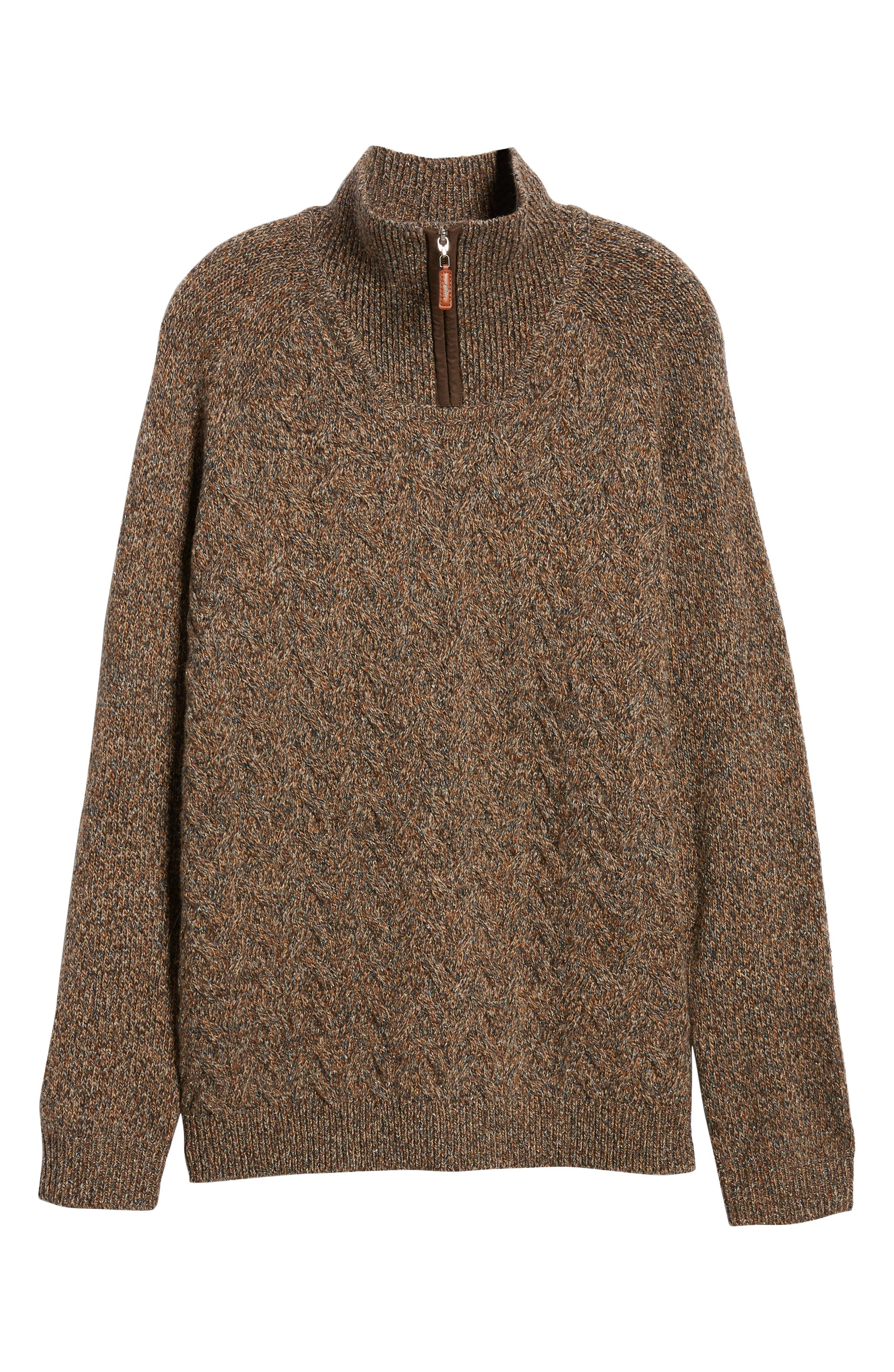 Irazu Half Zip Sweater,                             Alternate thumbnail 6, color,                             201