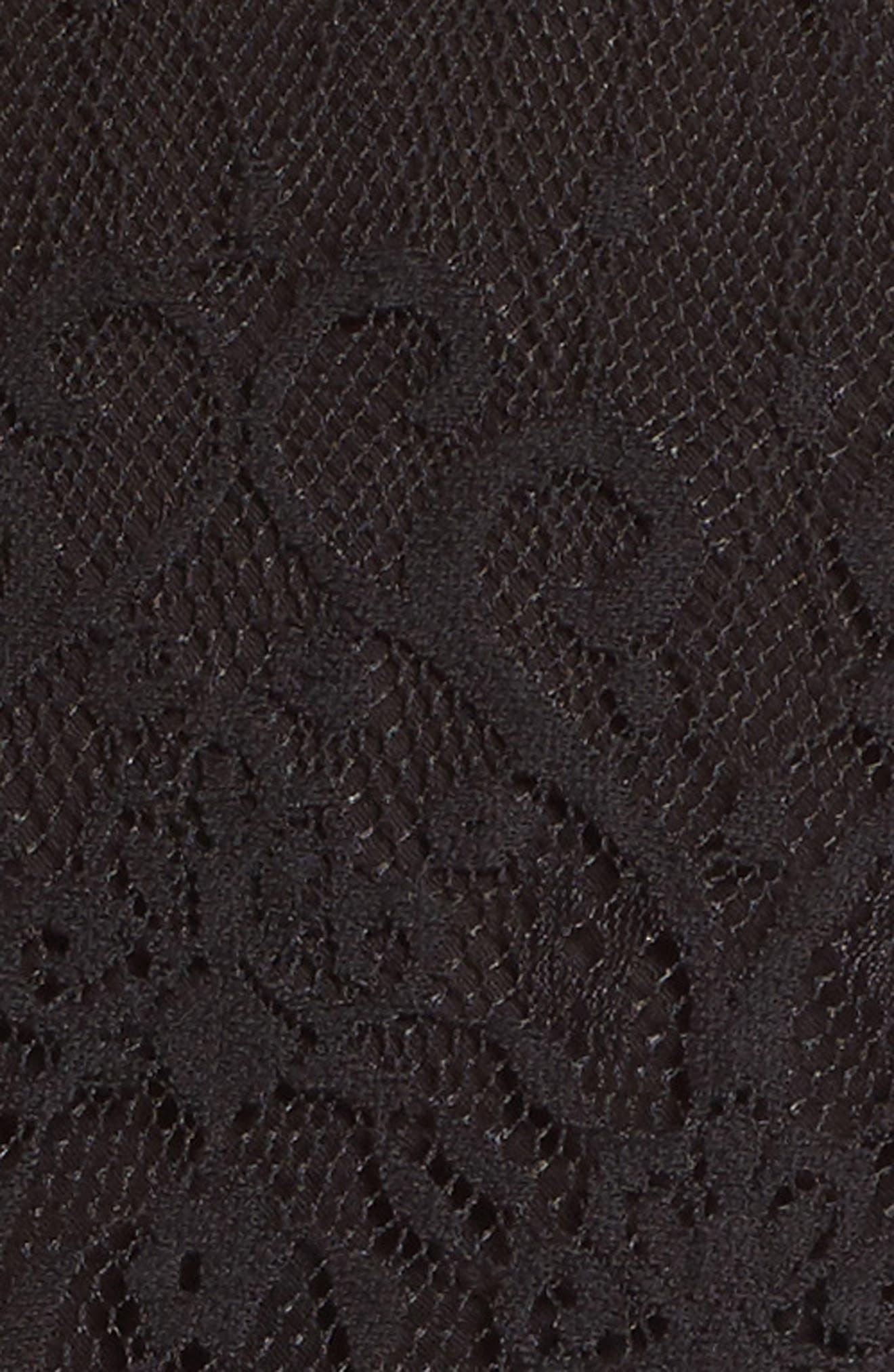 Lace Peplum Top,                             Alternate thumbnail 5, color,                             001