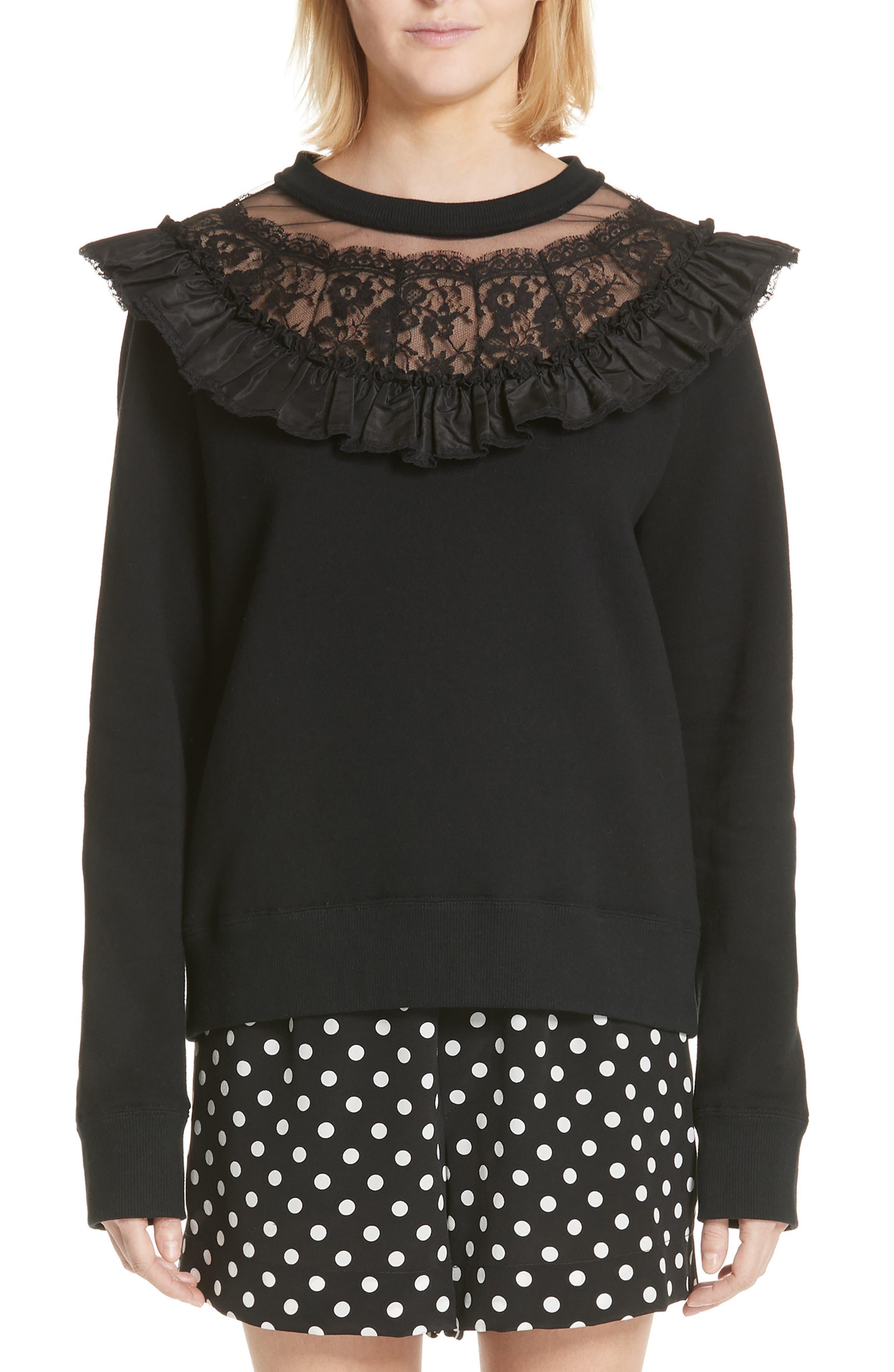 Lace Yoke Sweatshirt by Marc Jacobs