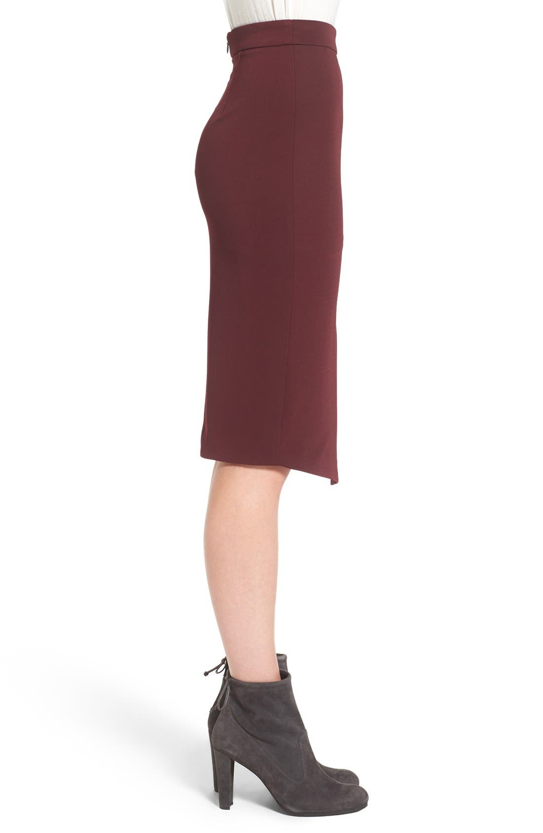 Asymmetrical Zip Pencil Skirt,                             Alternate thumbnail 8, color,