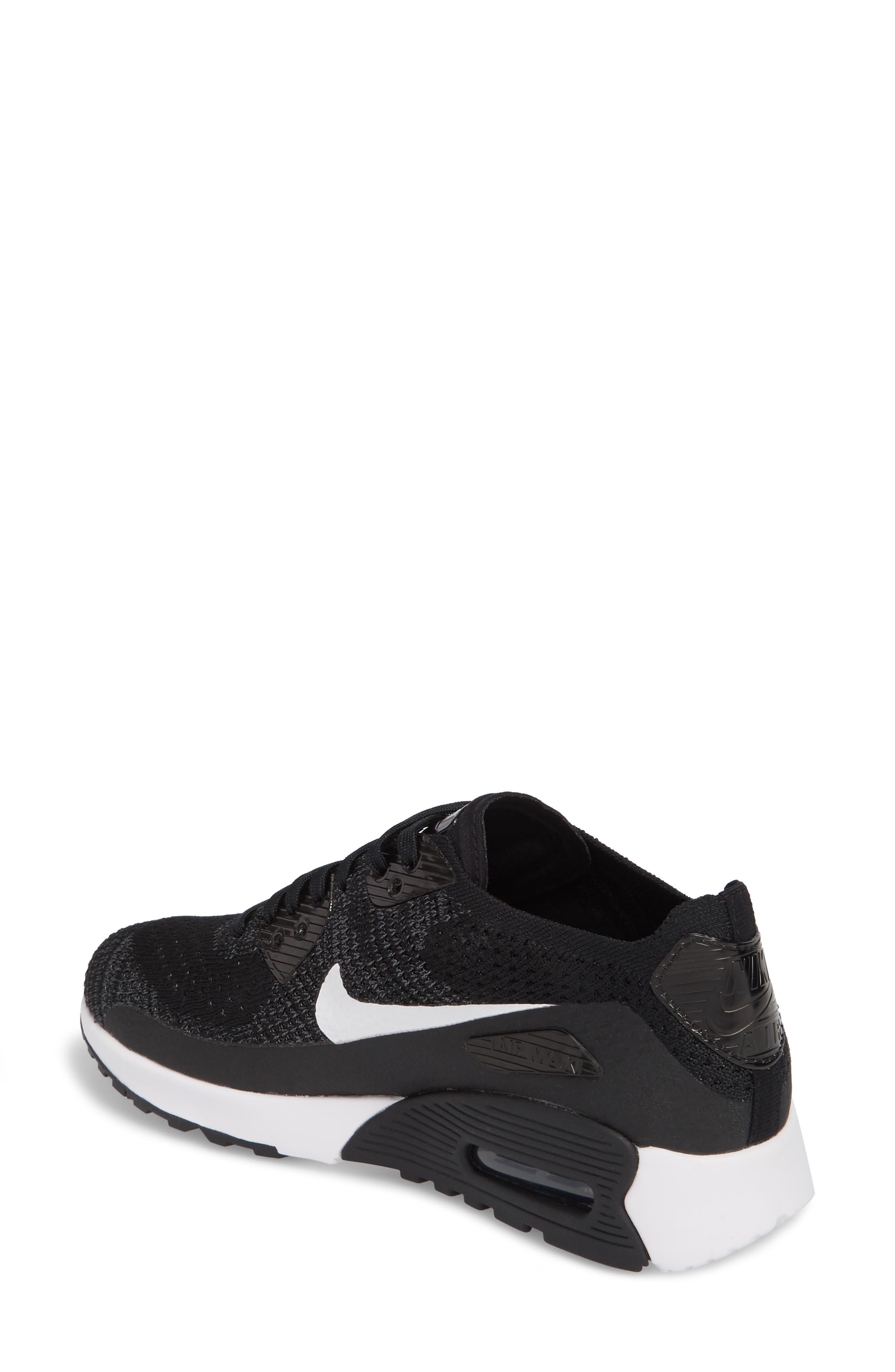 NIKE,                             Air Max 90 Flyknit Ultra 2.0 Sneaker,                             Alternate thumbnail 2, color,                             004