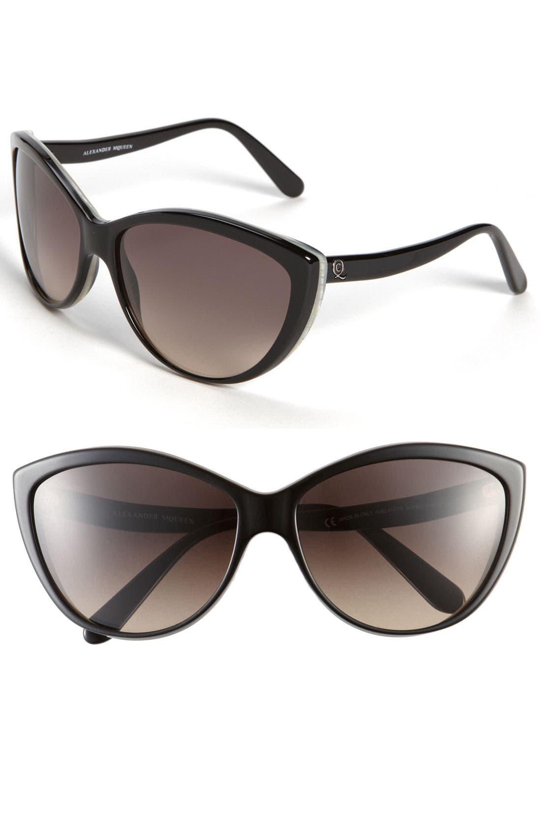 61mm Two-Tone Cat Eye Sunglasses,                             Main thumbnail 2, color,