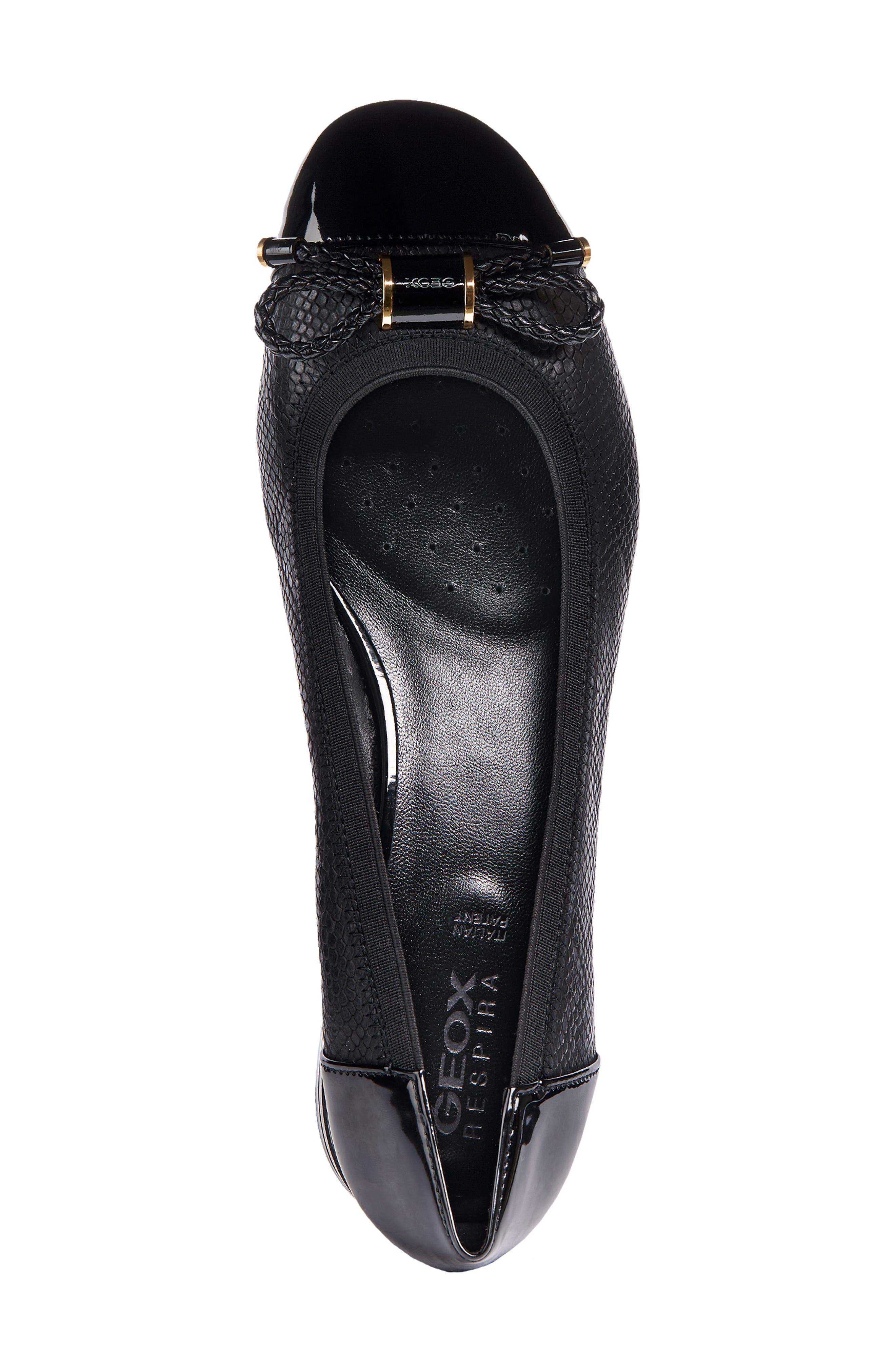 Chloo Pump,                             Alternate thumbnail 4, color,                             BLACK LEATHER