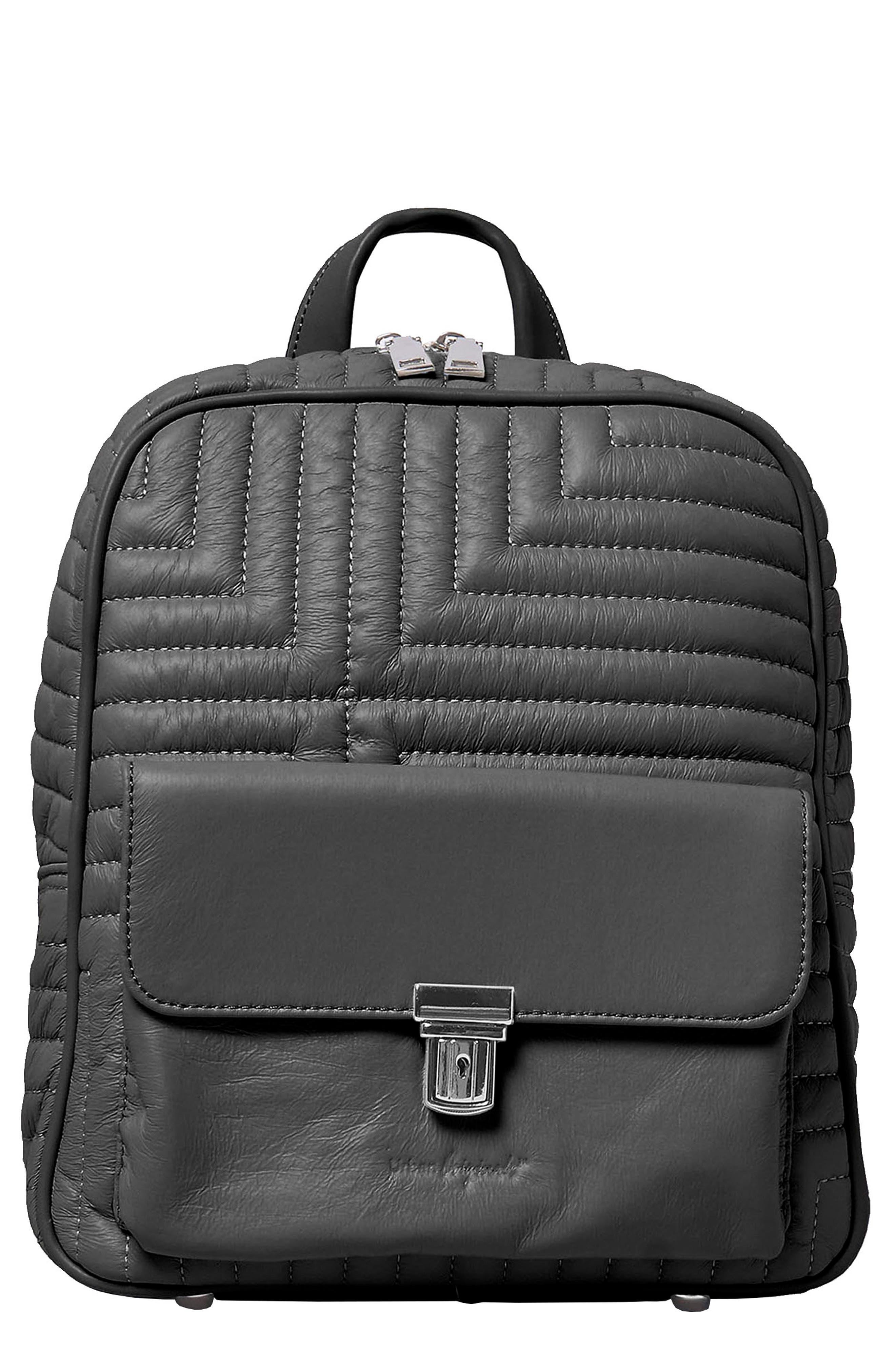 Essential Vegan Leather Backpack in Black