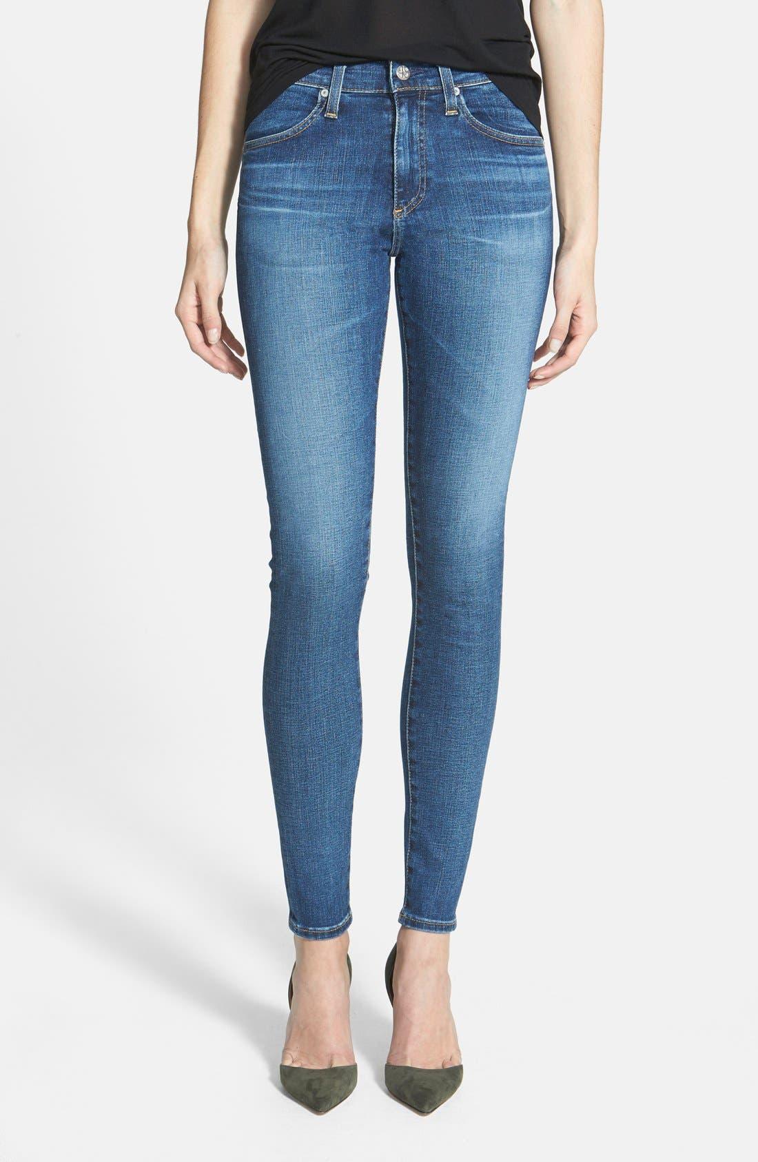 'The Farrah' High Rise Skinny Jeans,                             Main thumbnail 8, color,