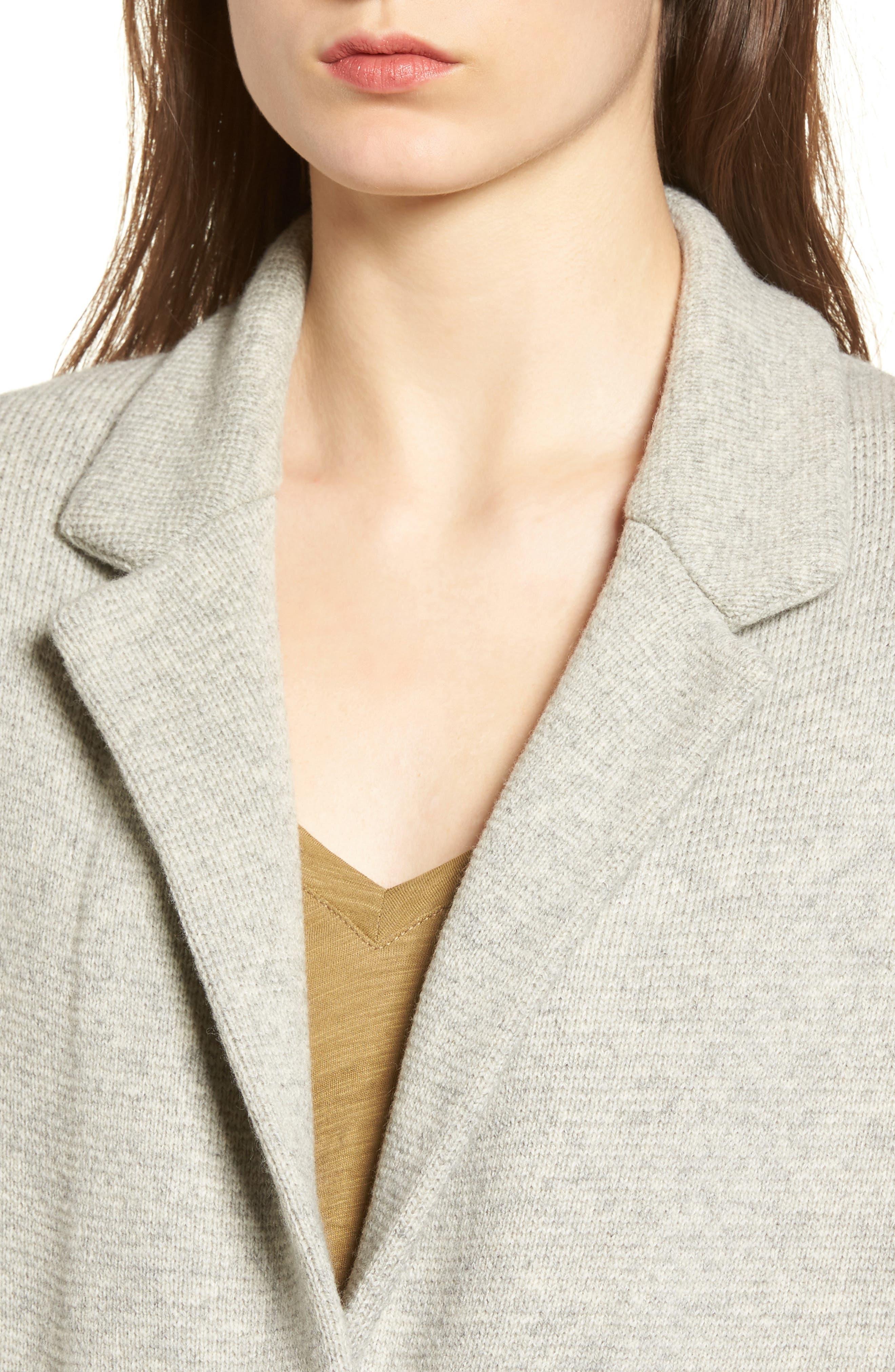 Blazer Sweater Jacket,                             Alternate thumbnail 4, color,                             020