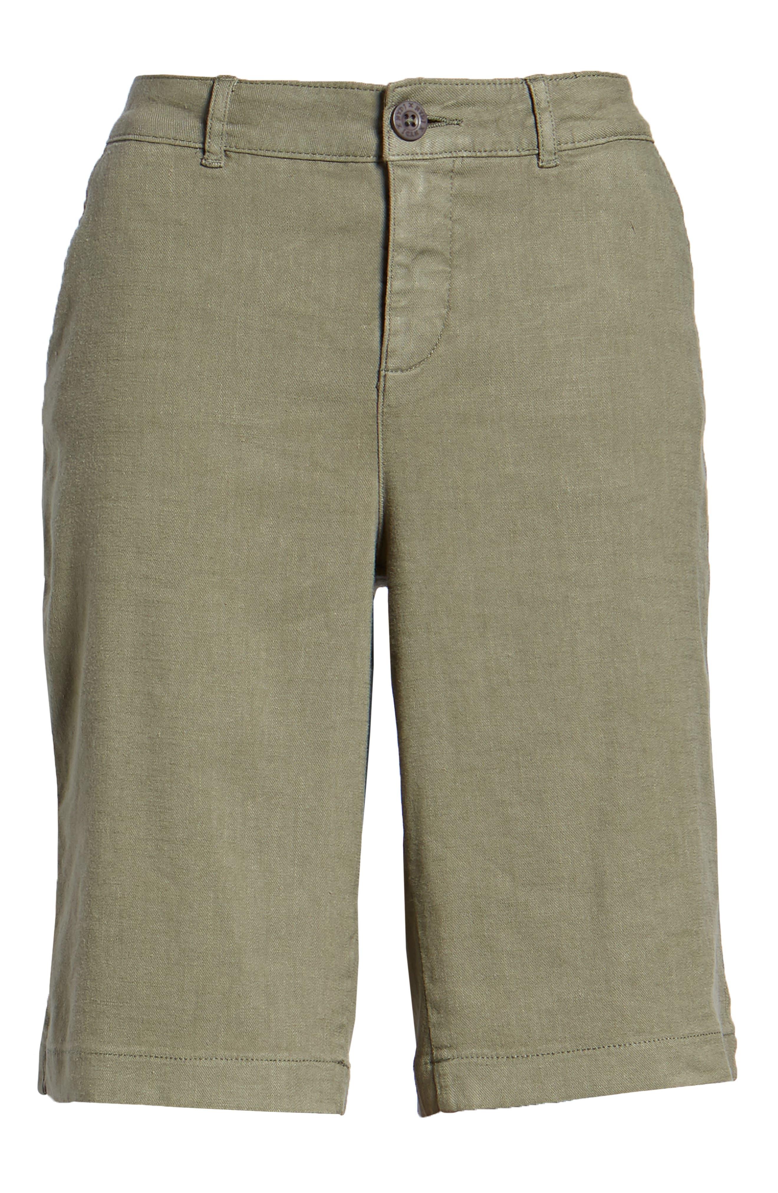 Stretch Linen Blend Bermuda Shorts,                             Alternate thumbnail 18, color,