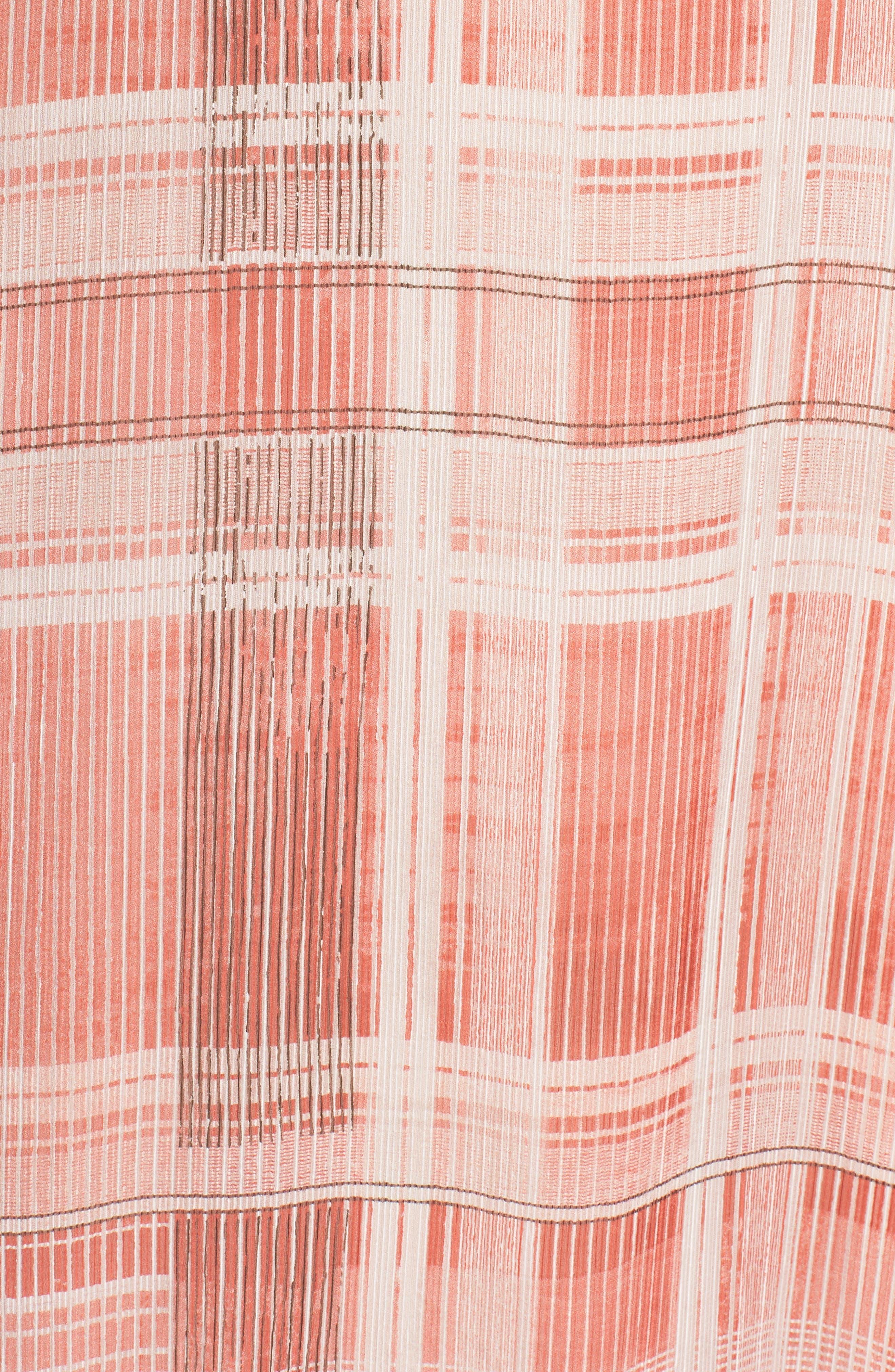Plaid Off the Shoulder Maxi Dress,                             Alternate thumbnail 7, color,                             643