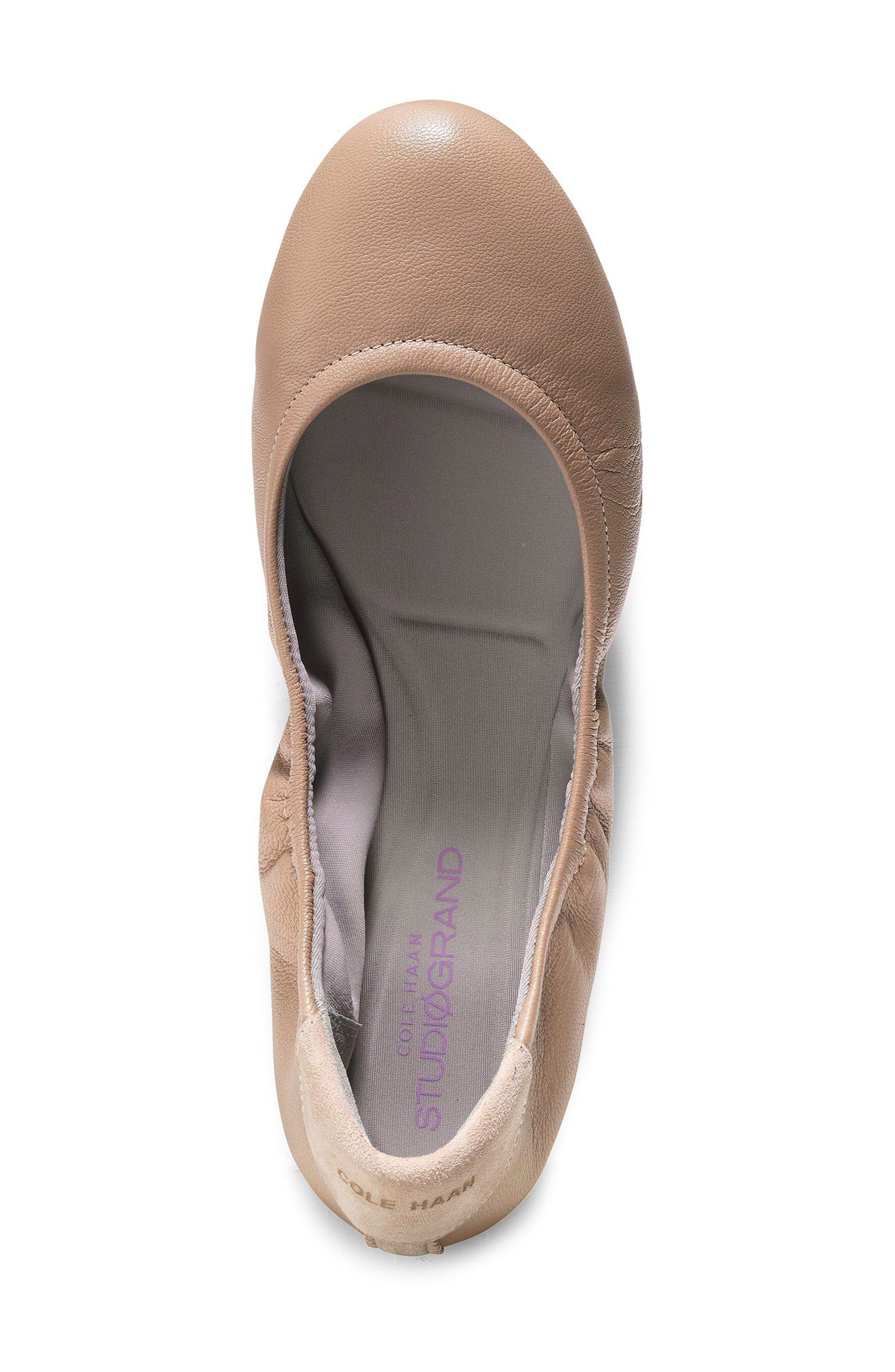Studiogrand Ballet Flat,                             Alternate thumbnail 4, color,                             MAPLE SUGAR LEATHER