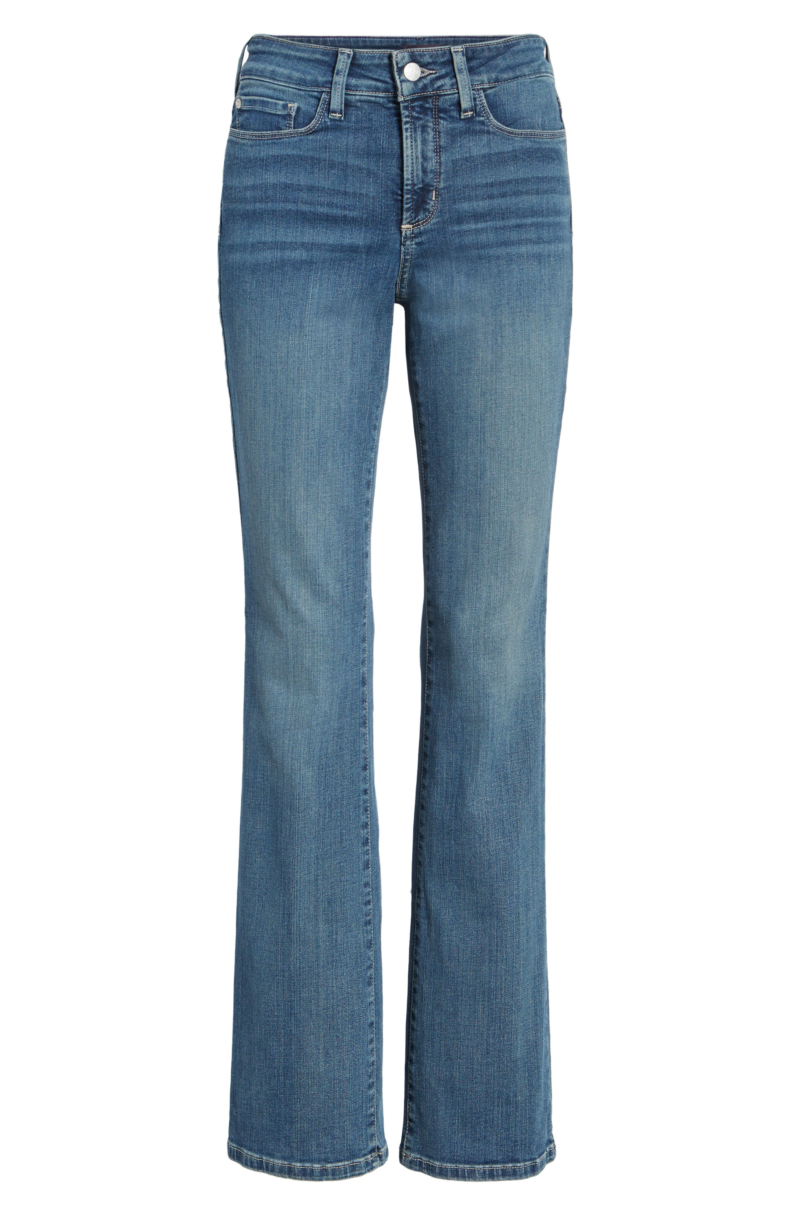 Barbara Stretch Bootcut Jeans,                             Alternate thumbnail 4, color,                             HEYBURN