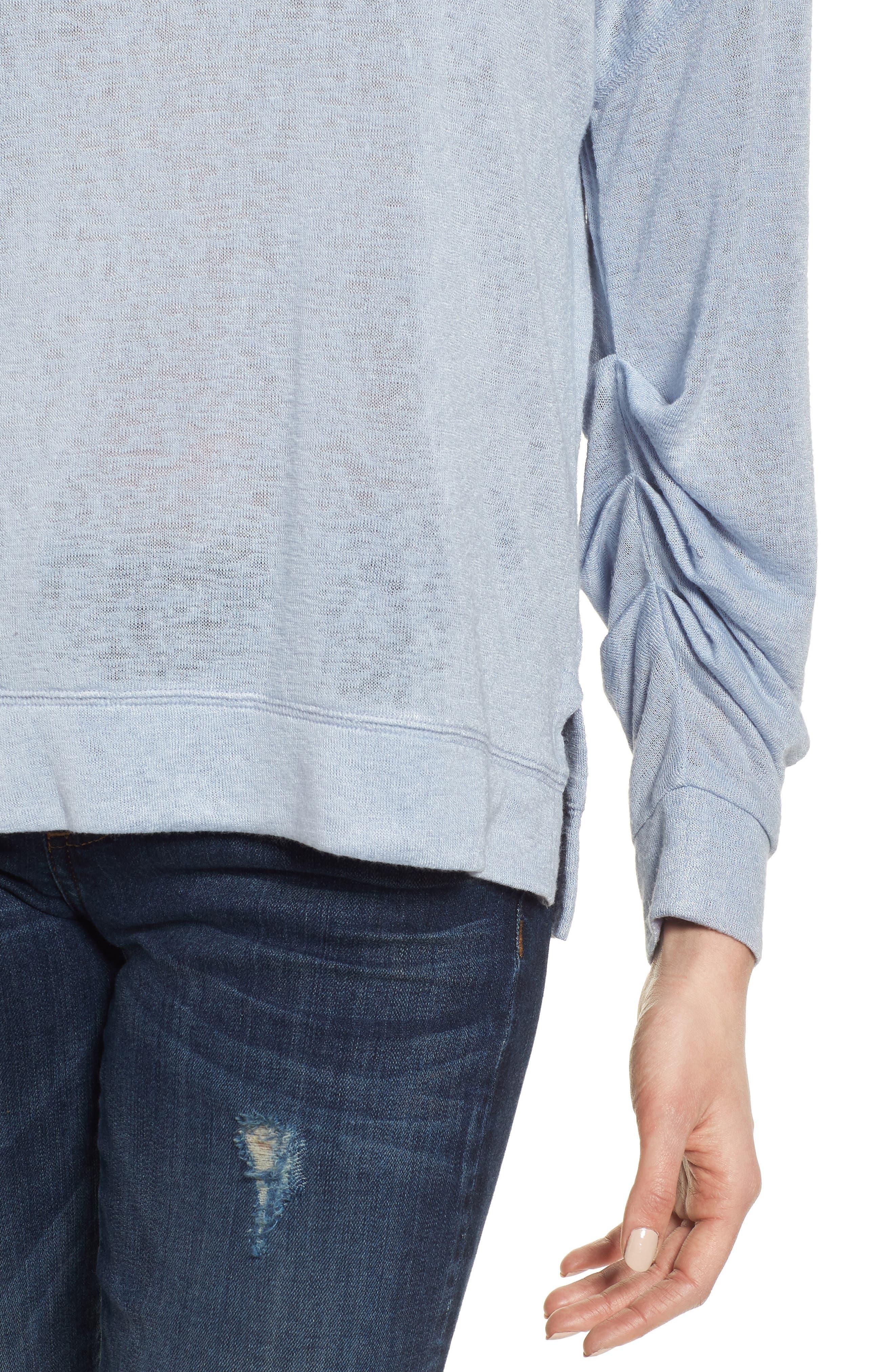Tuck Sleeve Sweatshirt,                             Alternate thumbnail 24, color,