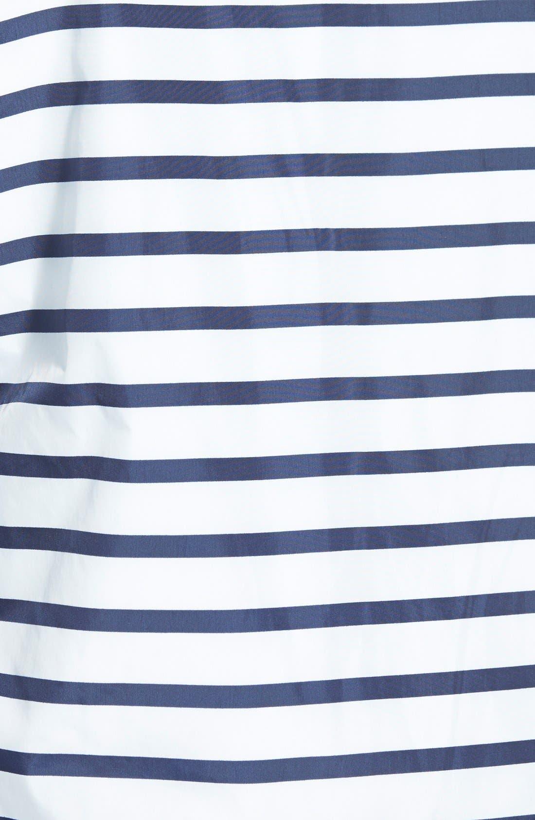 BURBERRY,                             Brit 'Kelson' Stripe Jacket,                             Alternate thumbnail 3, color,                             100