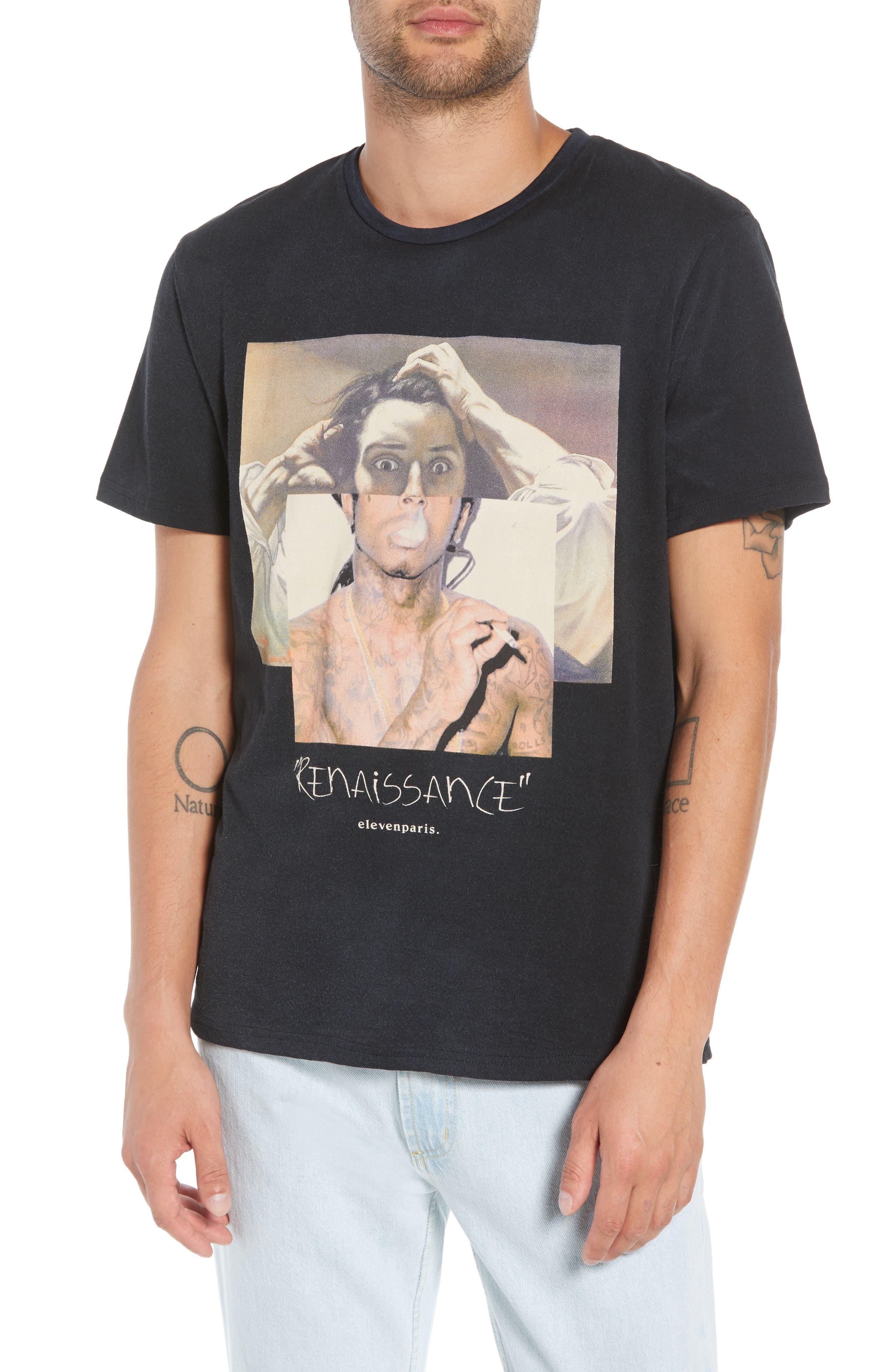 ELEVENPARIS Men'S Courbet Graphic T-Shirt in Black