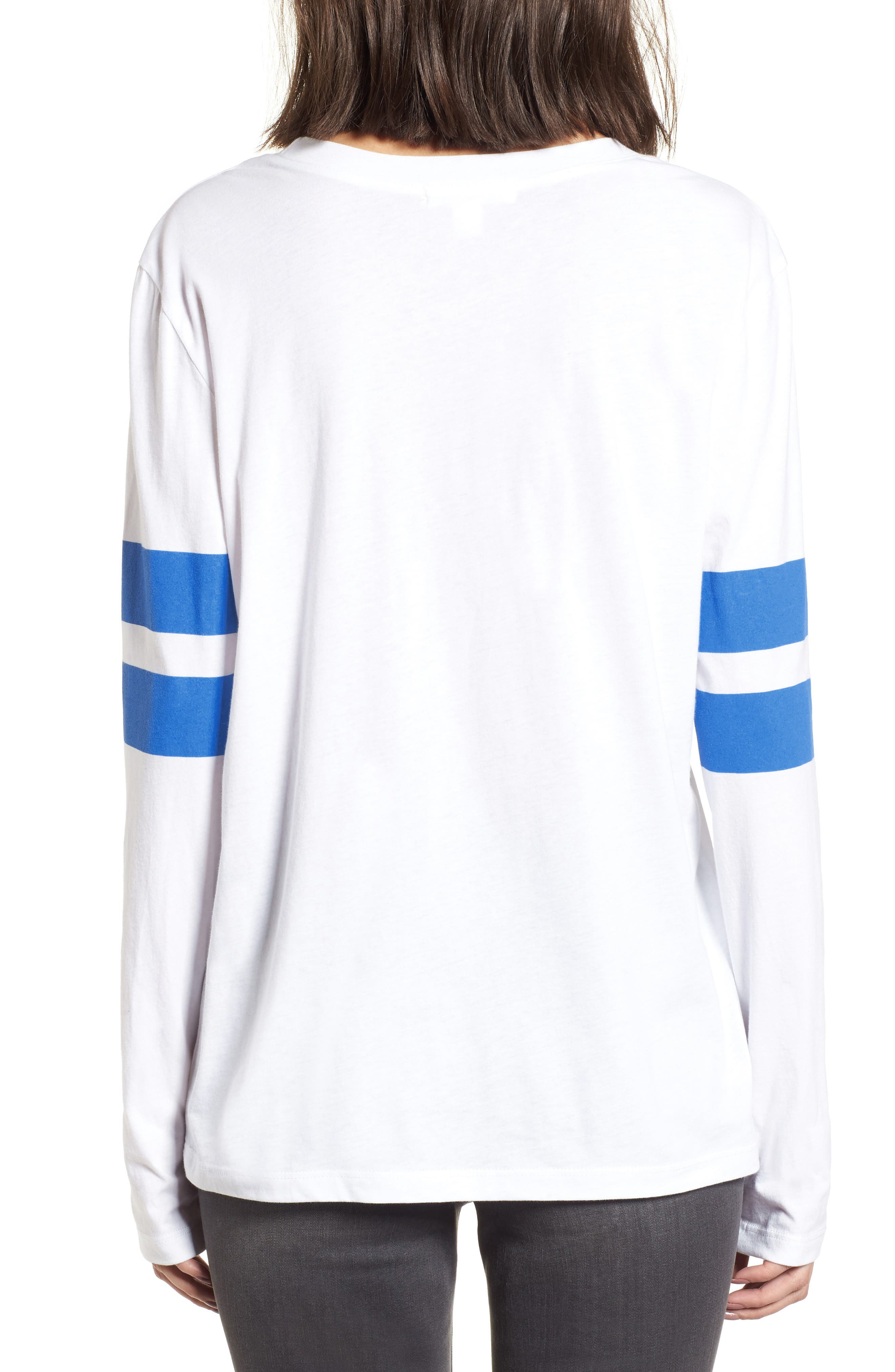Varsity Stripe Cotton Tee,                             Alternate thumbnail 28, color,
