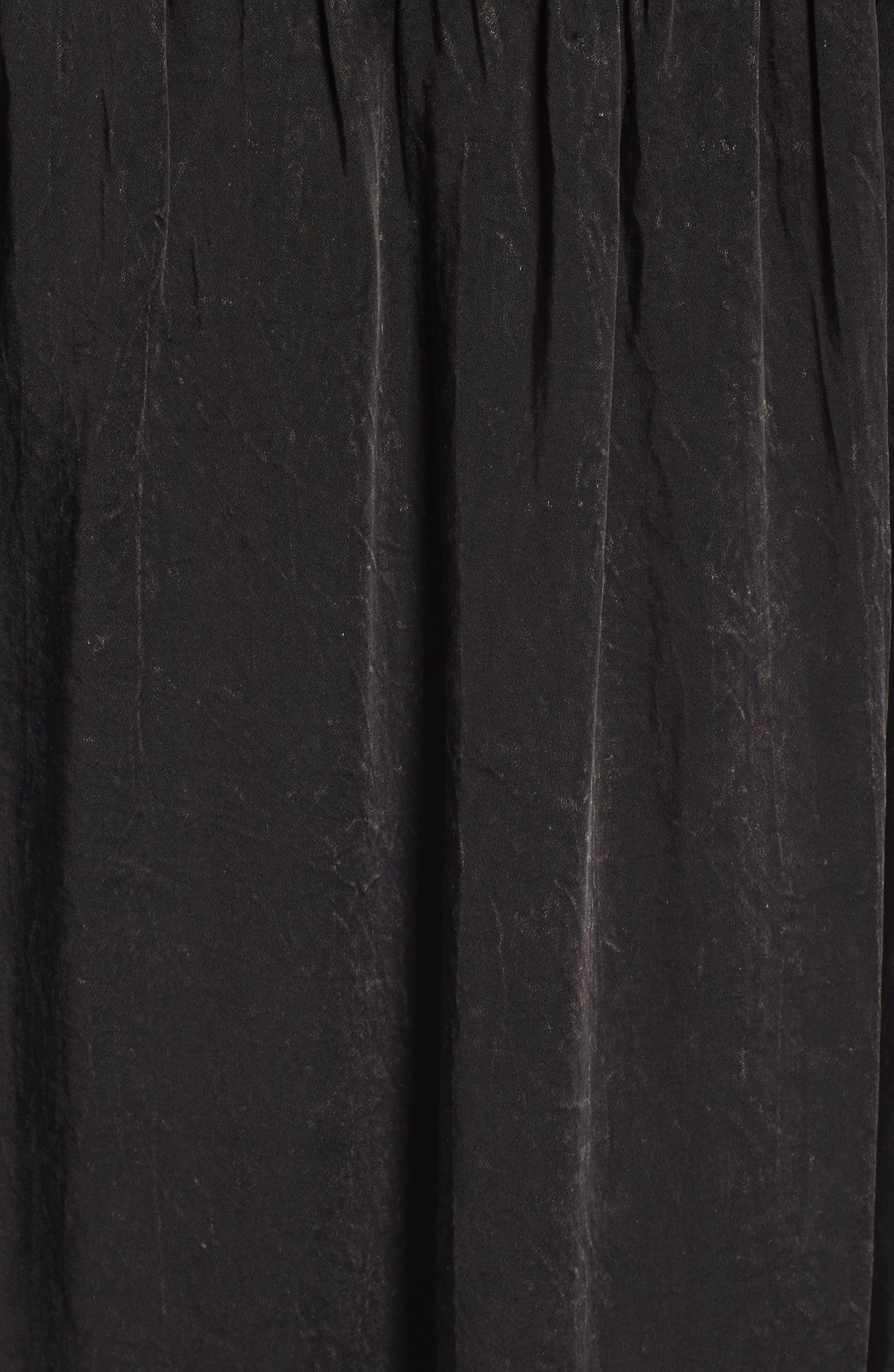 Rastana Babydoll Dress,                             Alternate thumbnail 5, color,                             001