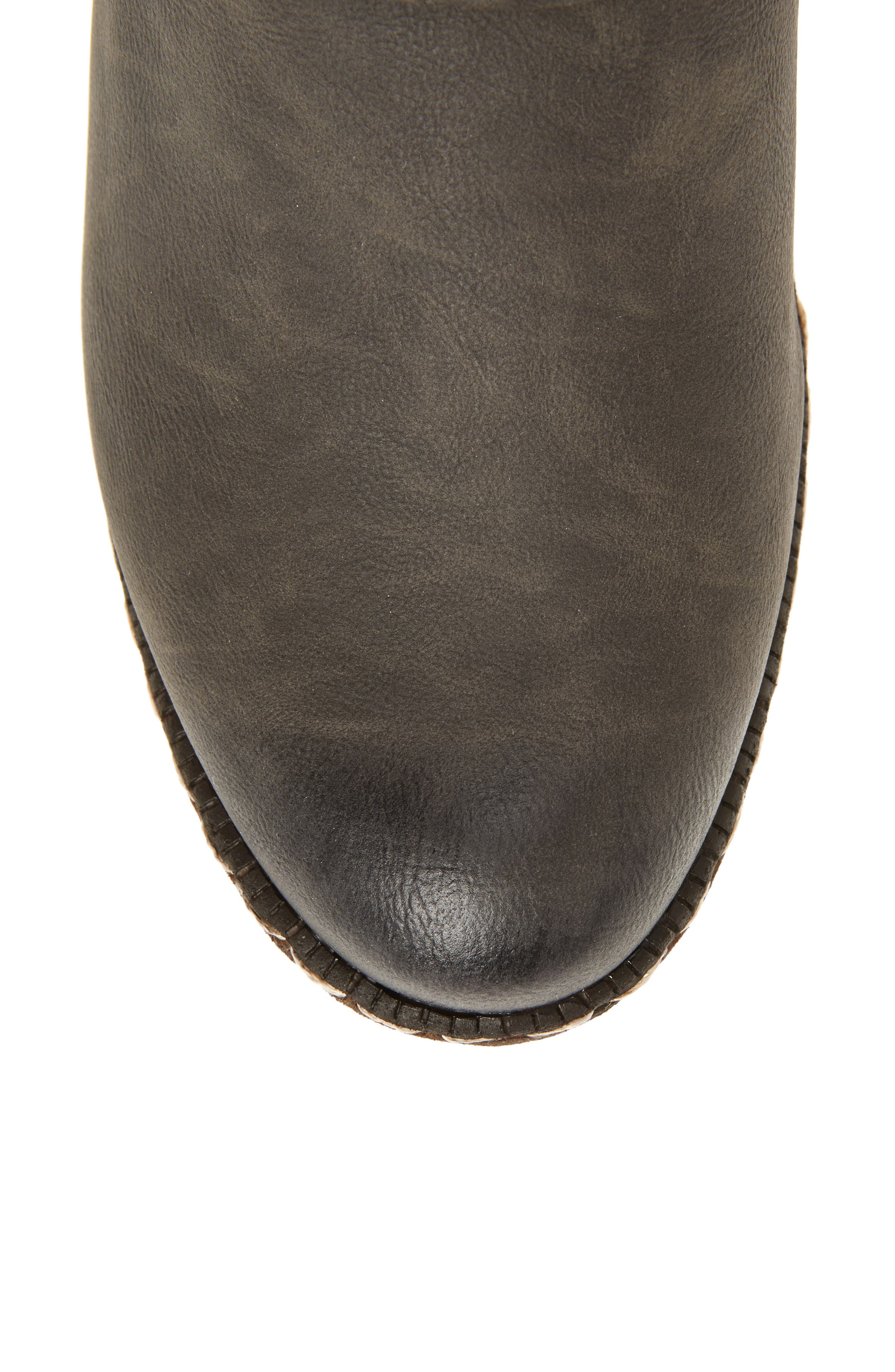 'Bernadette 55' Slightly Slouchy All Weather Boot,                             Alternate thumbnail 5, color,                             020