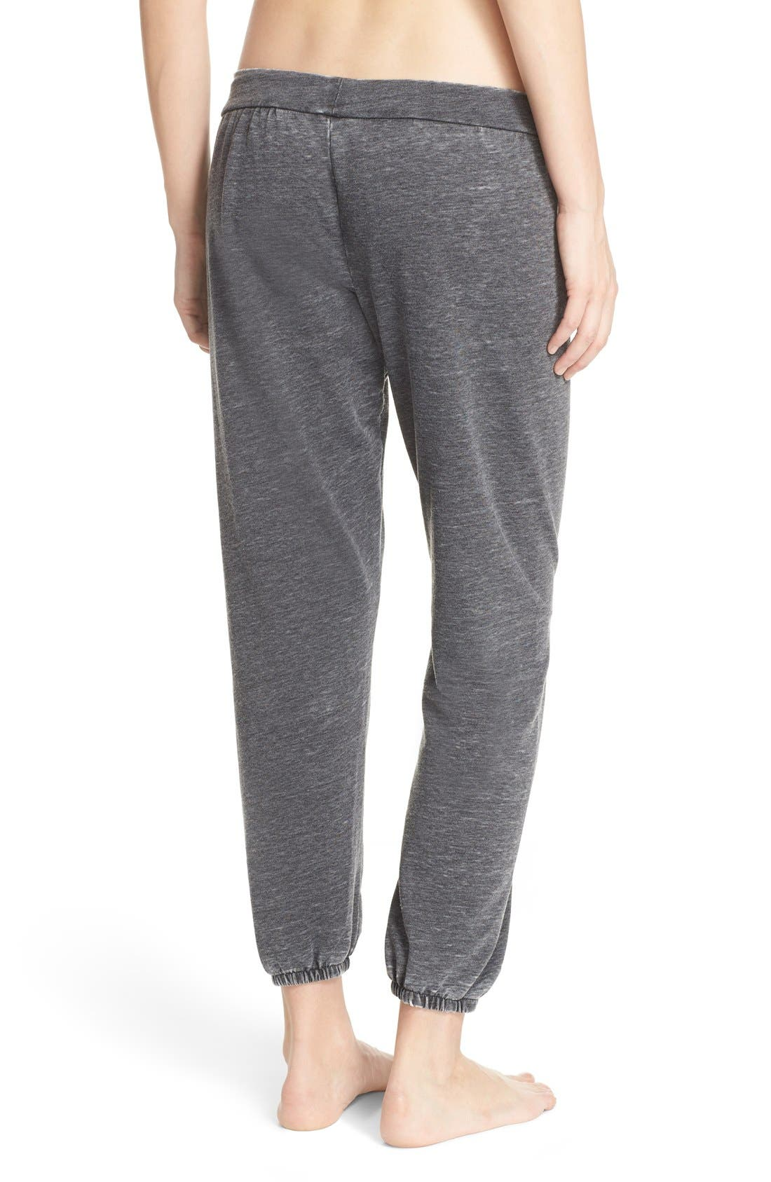 French Terry Lounge Pants,                             Alternate thumbnail 2, color,                             001