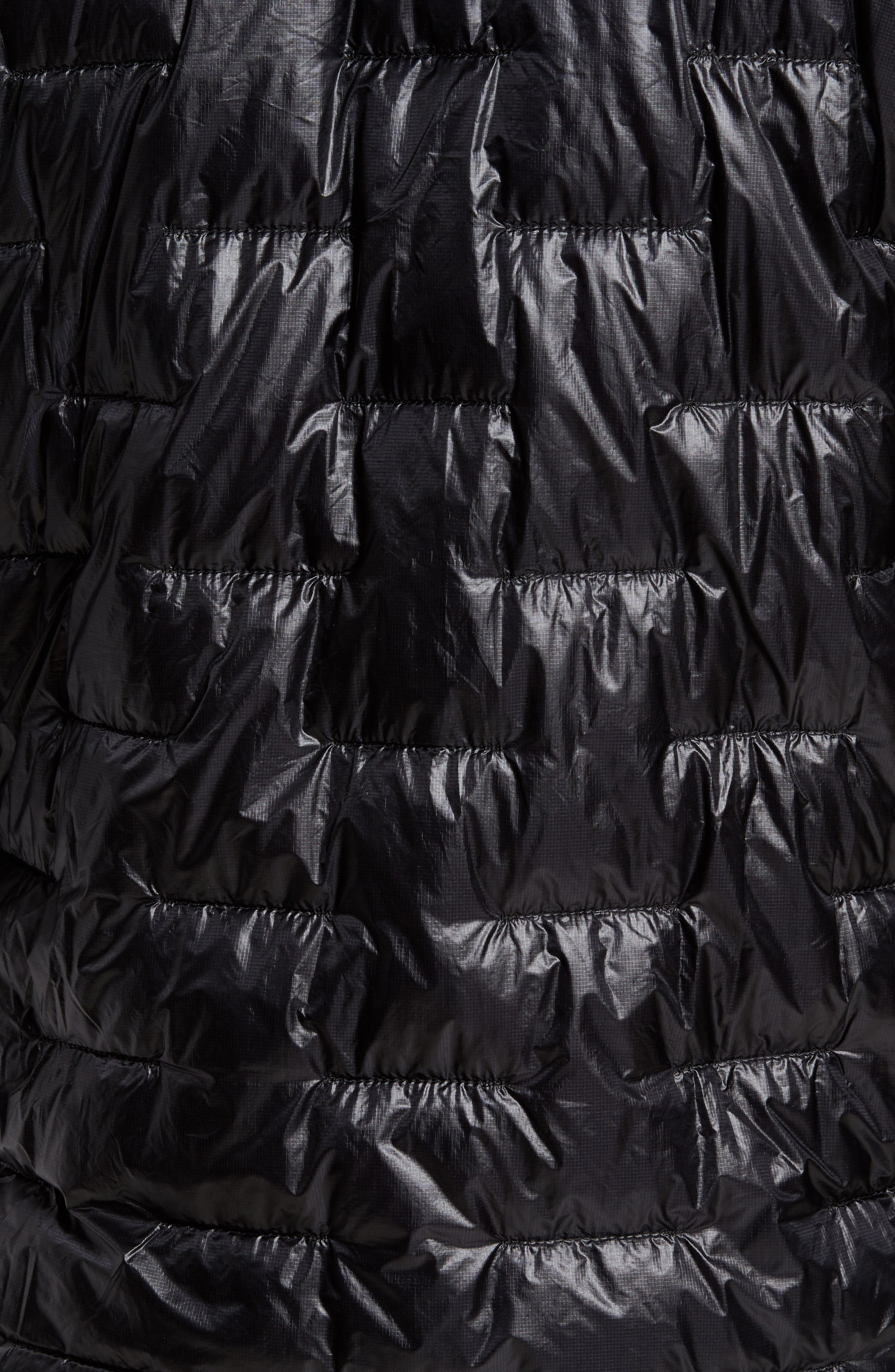 Micro Puff Jacket,                             Alternate thumbnail 7, color,                             BLACK