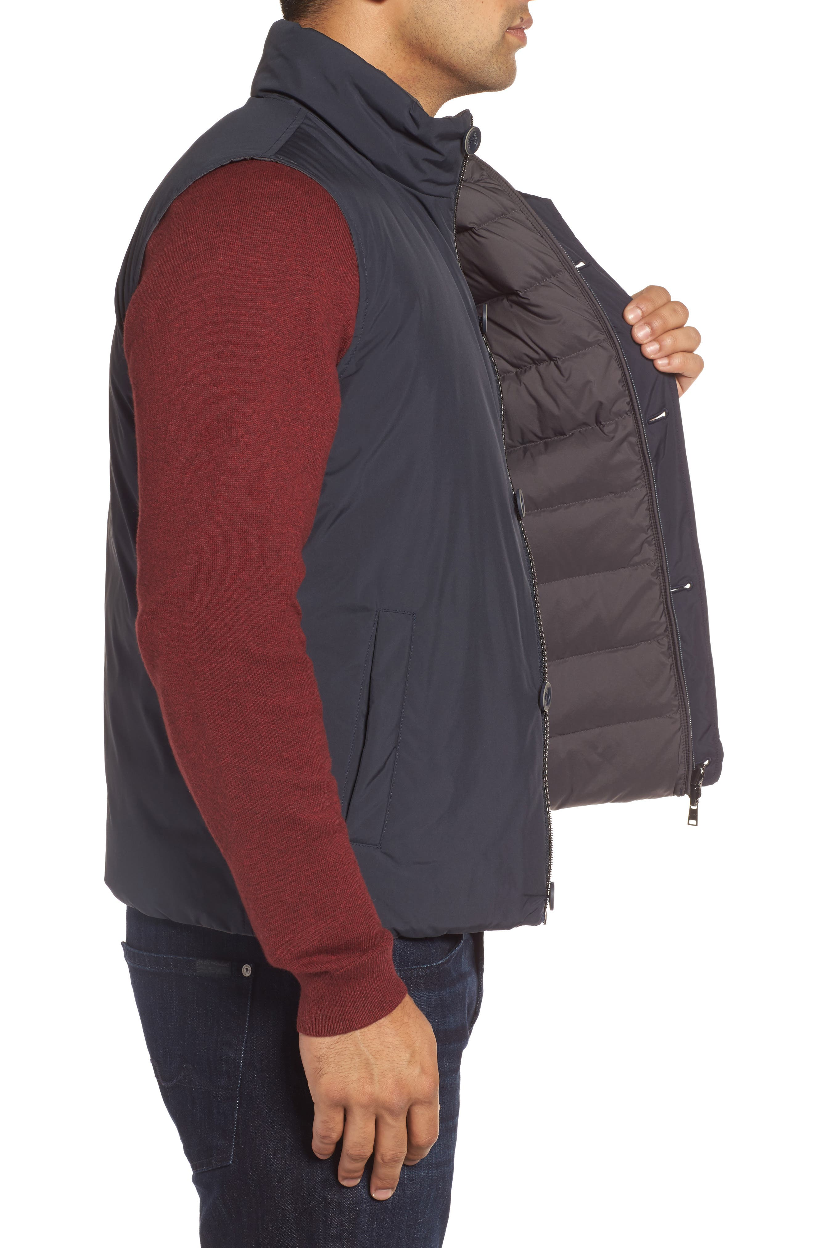 Reversible Down Vest,                             Alternate thumbnail 3, color,                             400