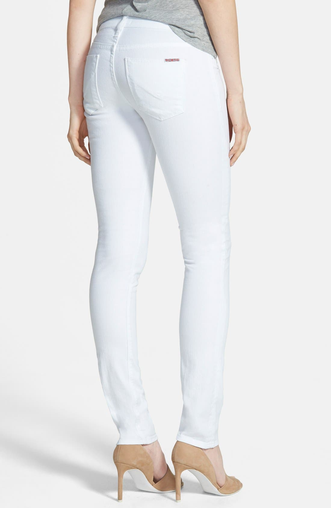 'Shine' Mid Rise Skinny Jeans,                             Alternate thumbnail 3, color,                             100
