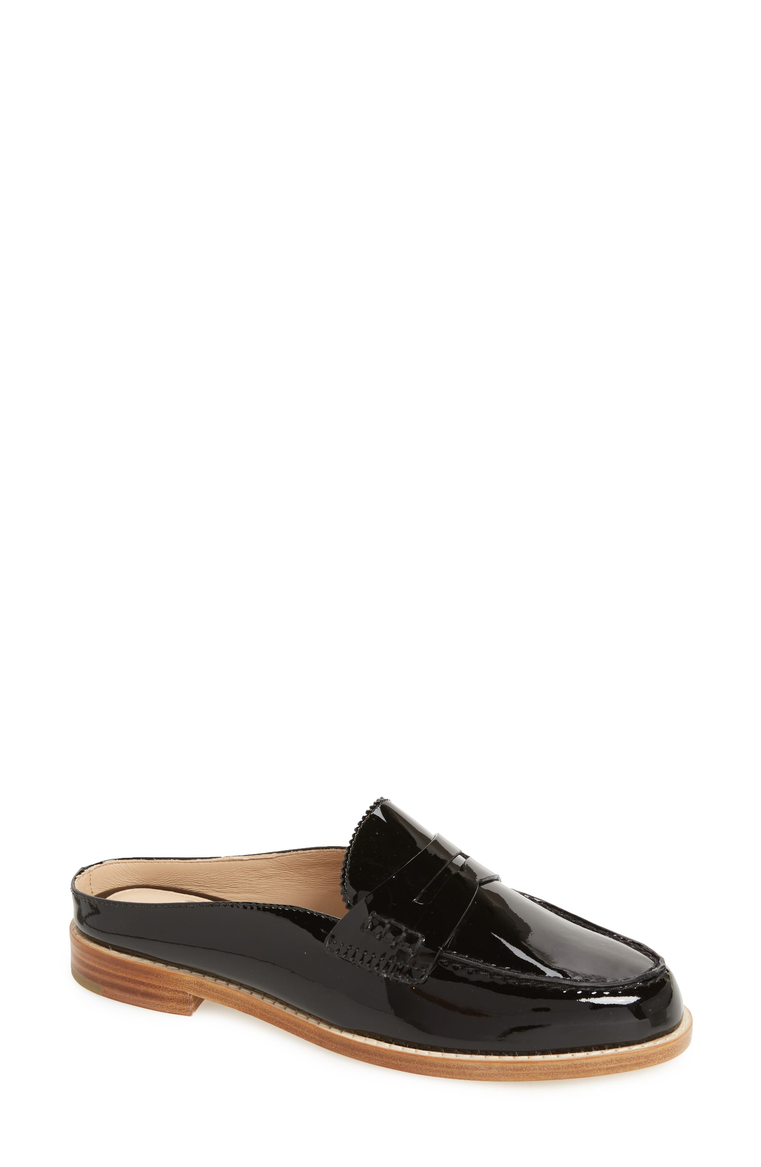 Giada Loafer Mule,                         Main,                         color, BLACK PATENT