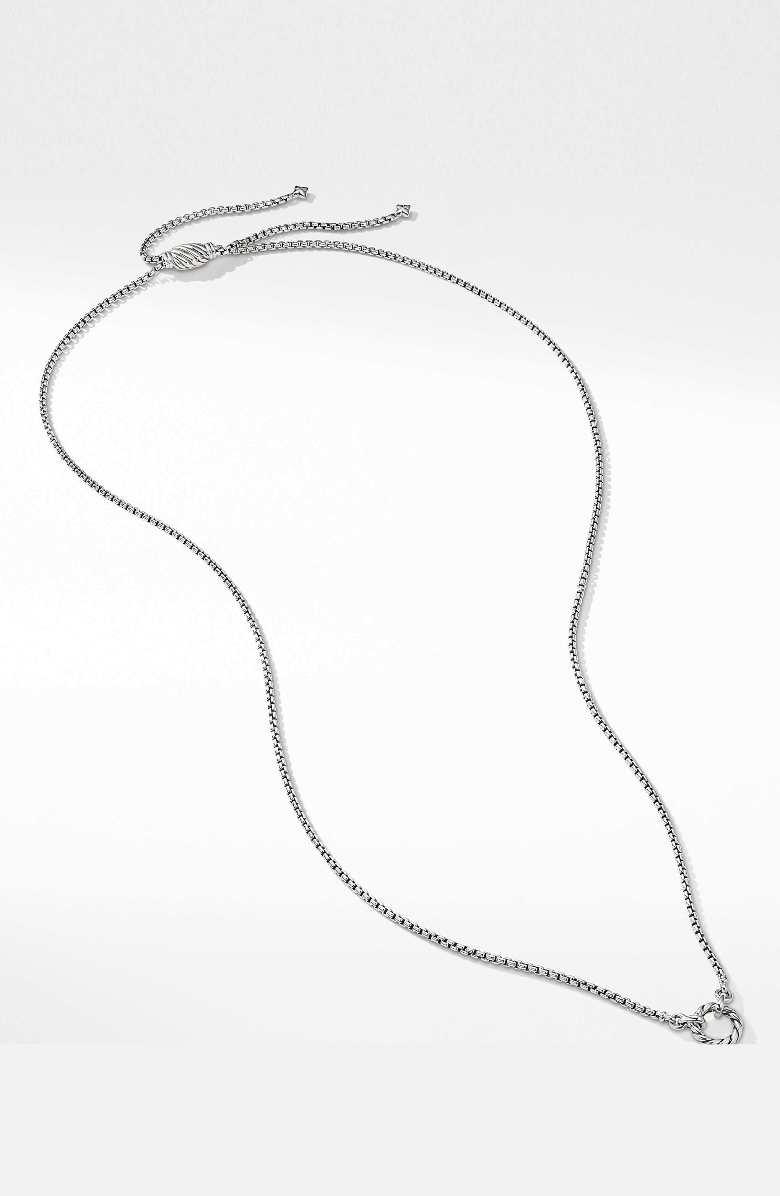 Amulet Vehicle Box Chain Necklace,                             Alternate thumbnail 2, color,                             SILVER