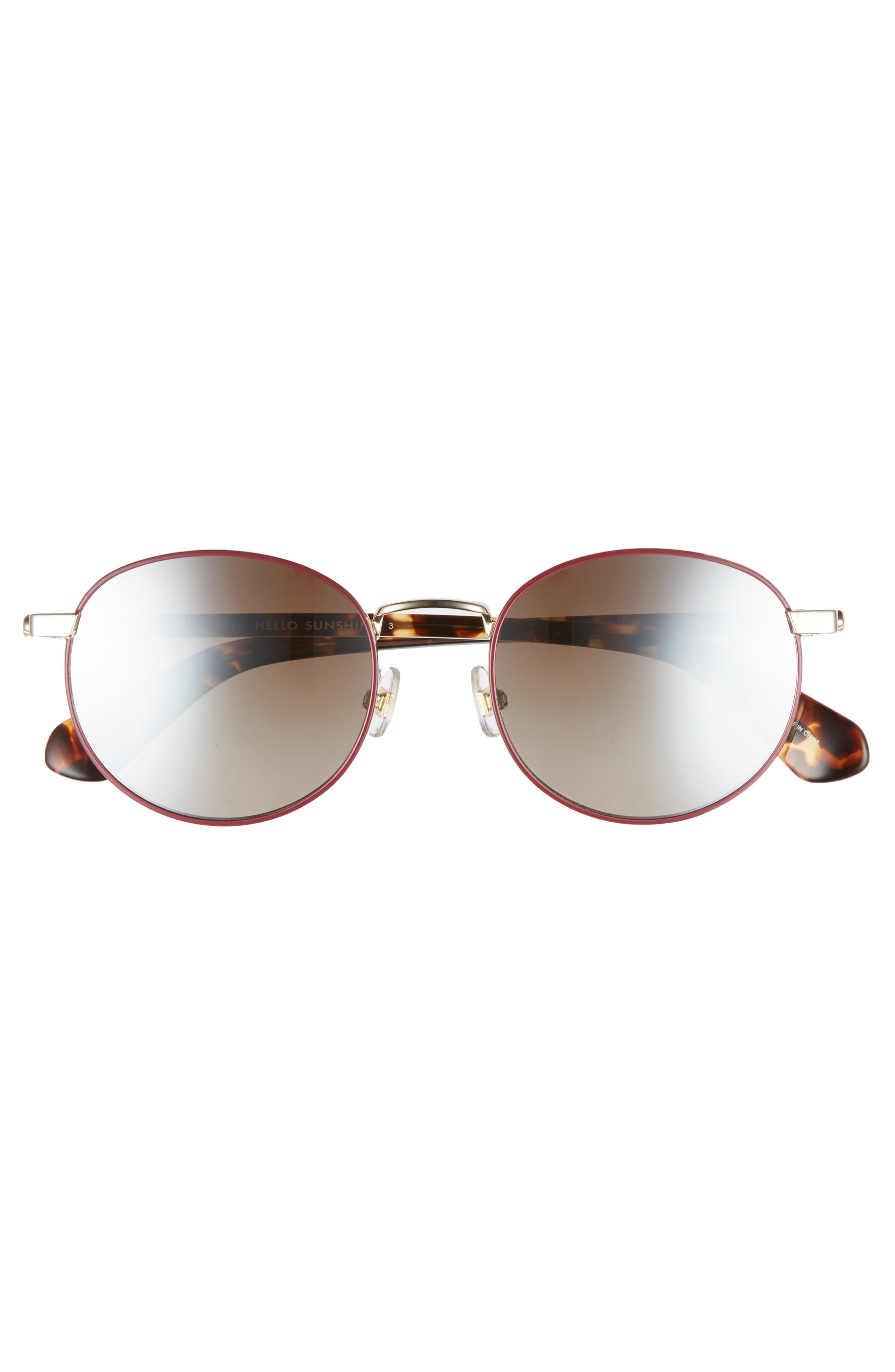 adelais 50mm round sunglasses,                             Alternate thumbnail 11, color,