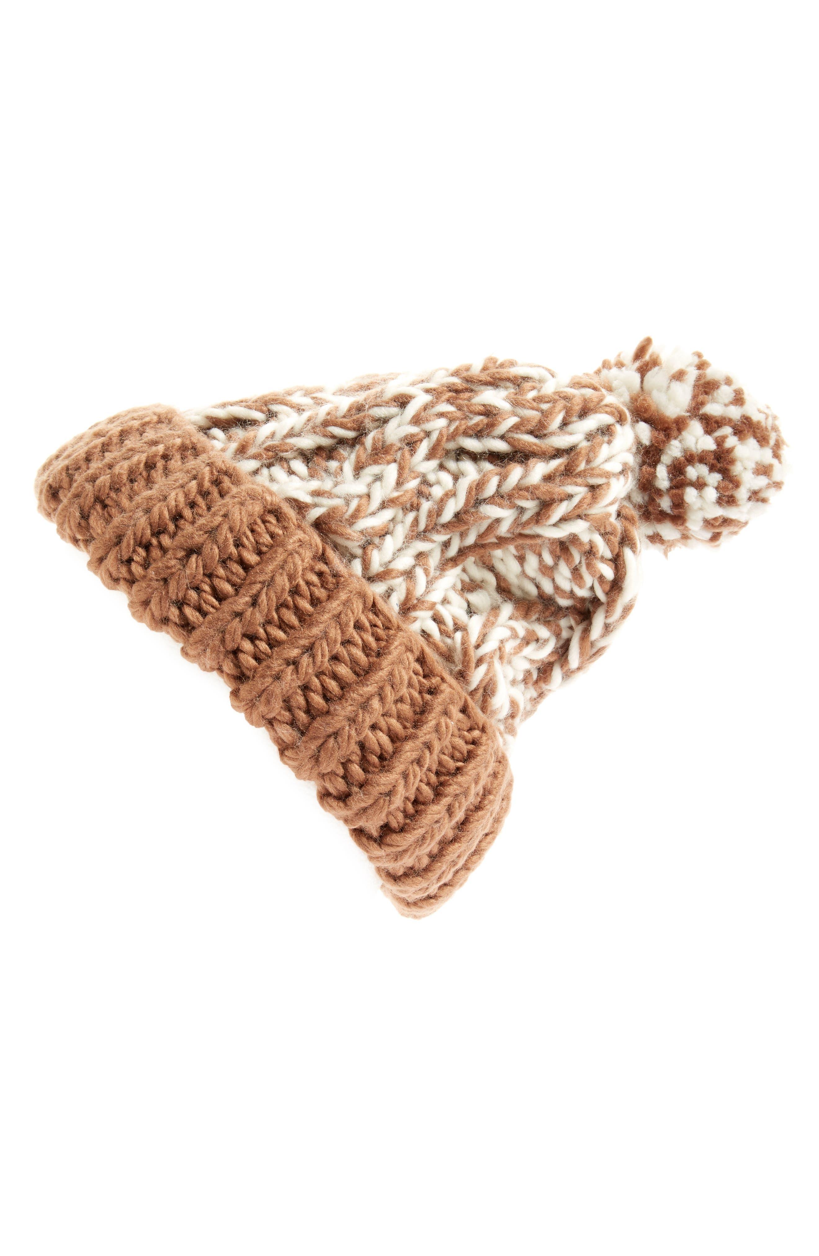 Treasure&Bond Stripe Knit Beanie,                             Main thumbnail 2, color,