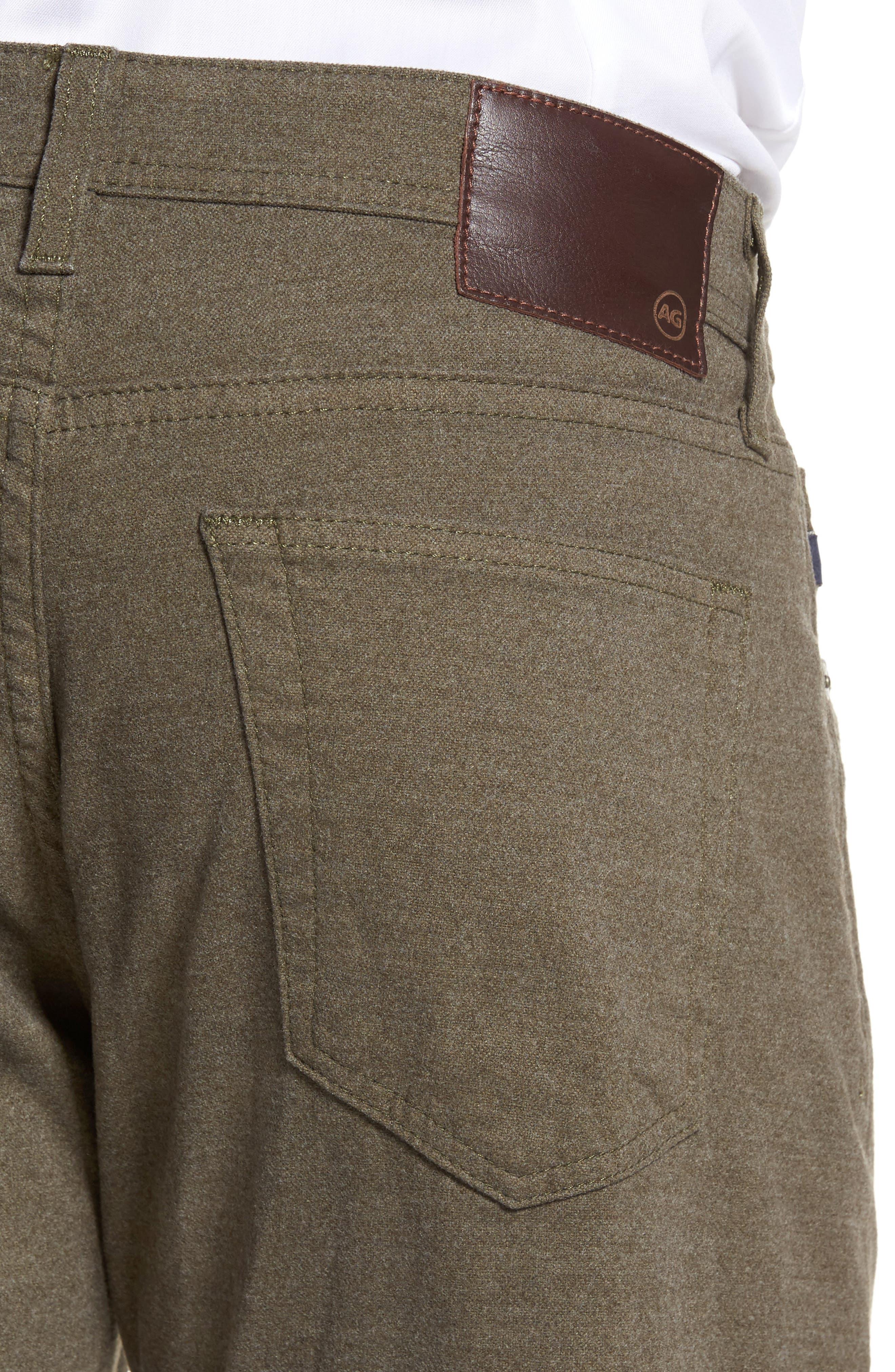 Graduate Tailored Five-Pocket Straight Leg Pants,                             Alternate thumbnail 4, color,                             CLIMBING IVY