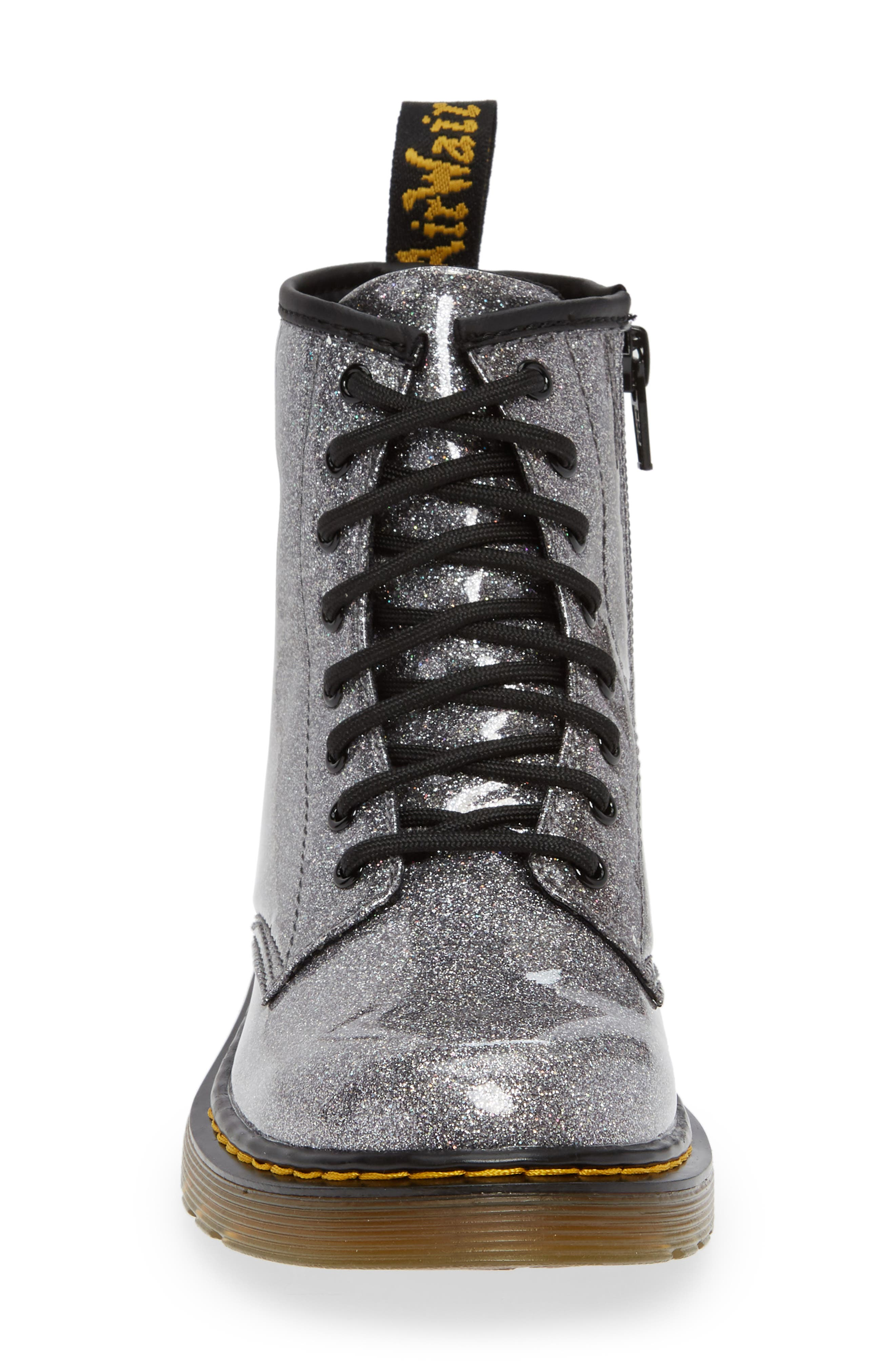 1460 Glitter Boot,                             Alternate thumbnail 4, color,                             GUNMETAL