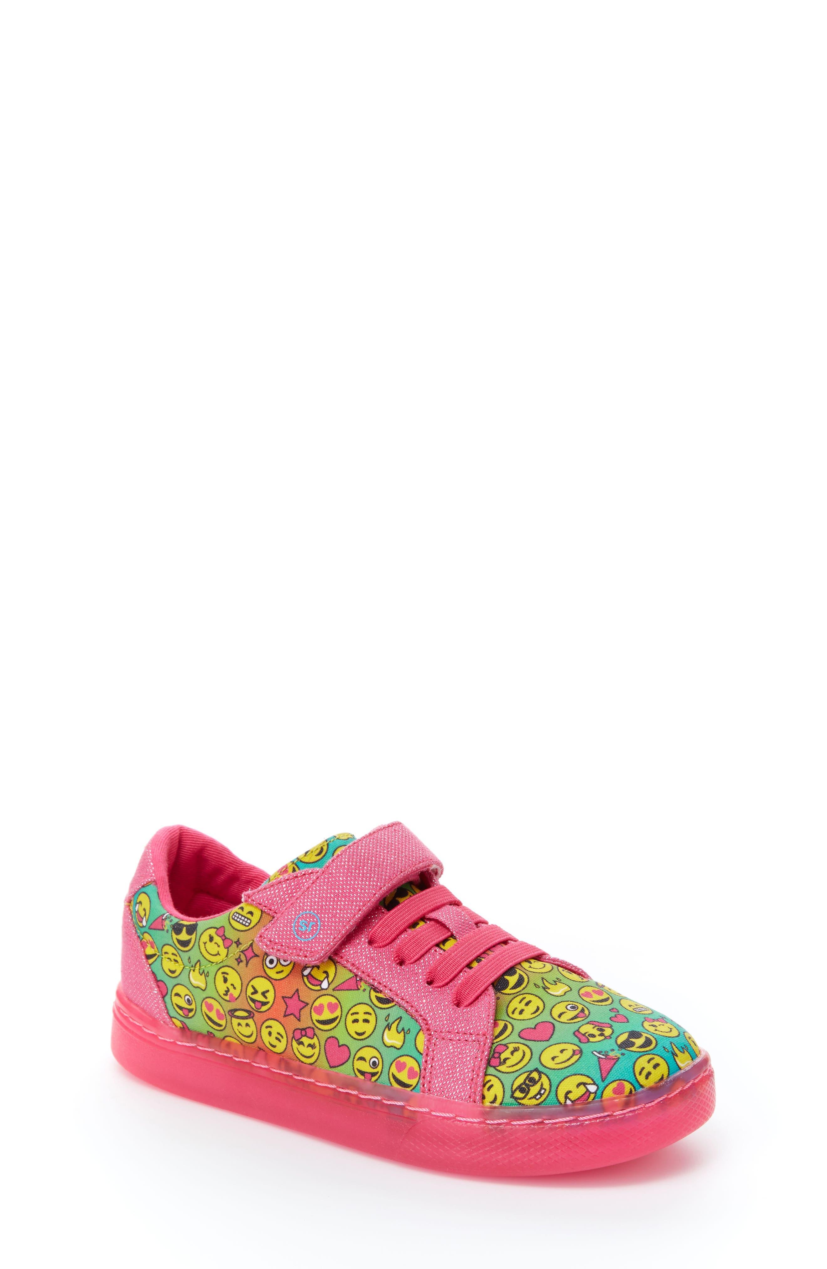 Raz Emoji Light-Up Sneaker,                         Main,                         color, 650