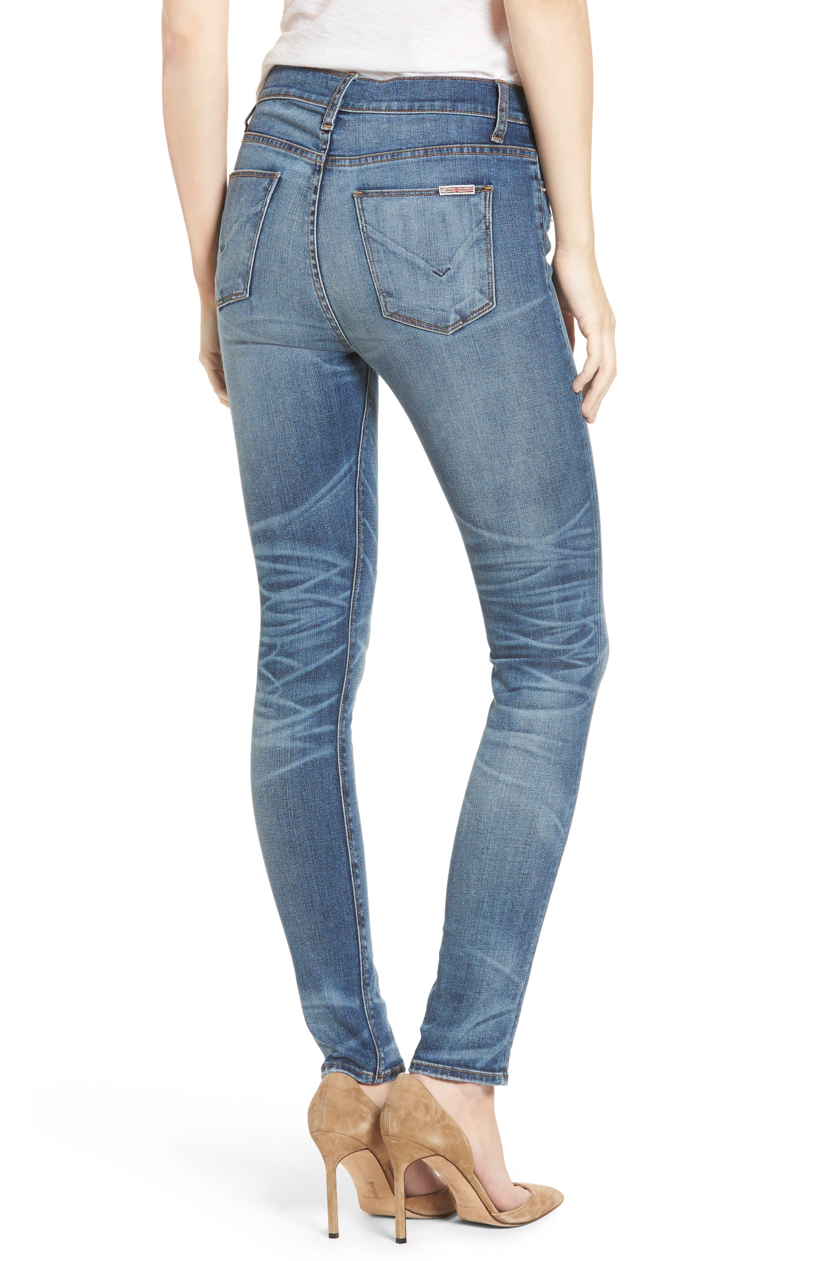 Ciara High Waist Skinny Jeans,                             Alternate thumbnail 3, color,