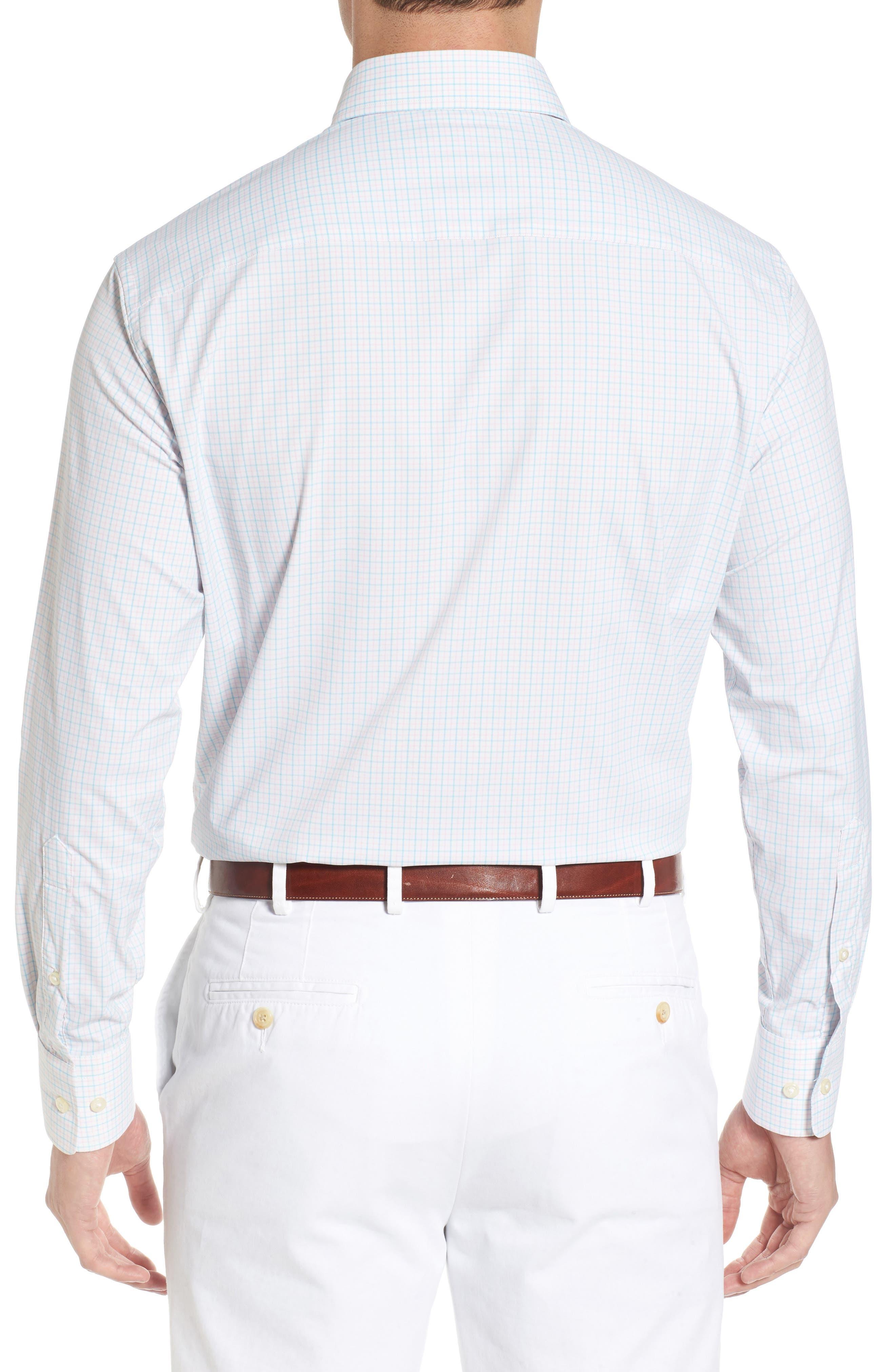 Waldorf Regular Fit Tattersall Performance Sport Shirt,                             Alternate thumbnail 2, color,                             103
