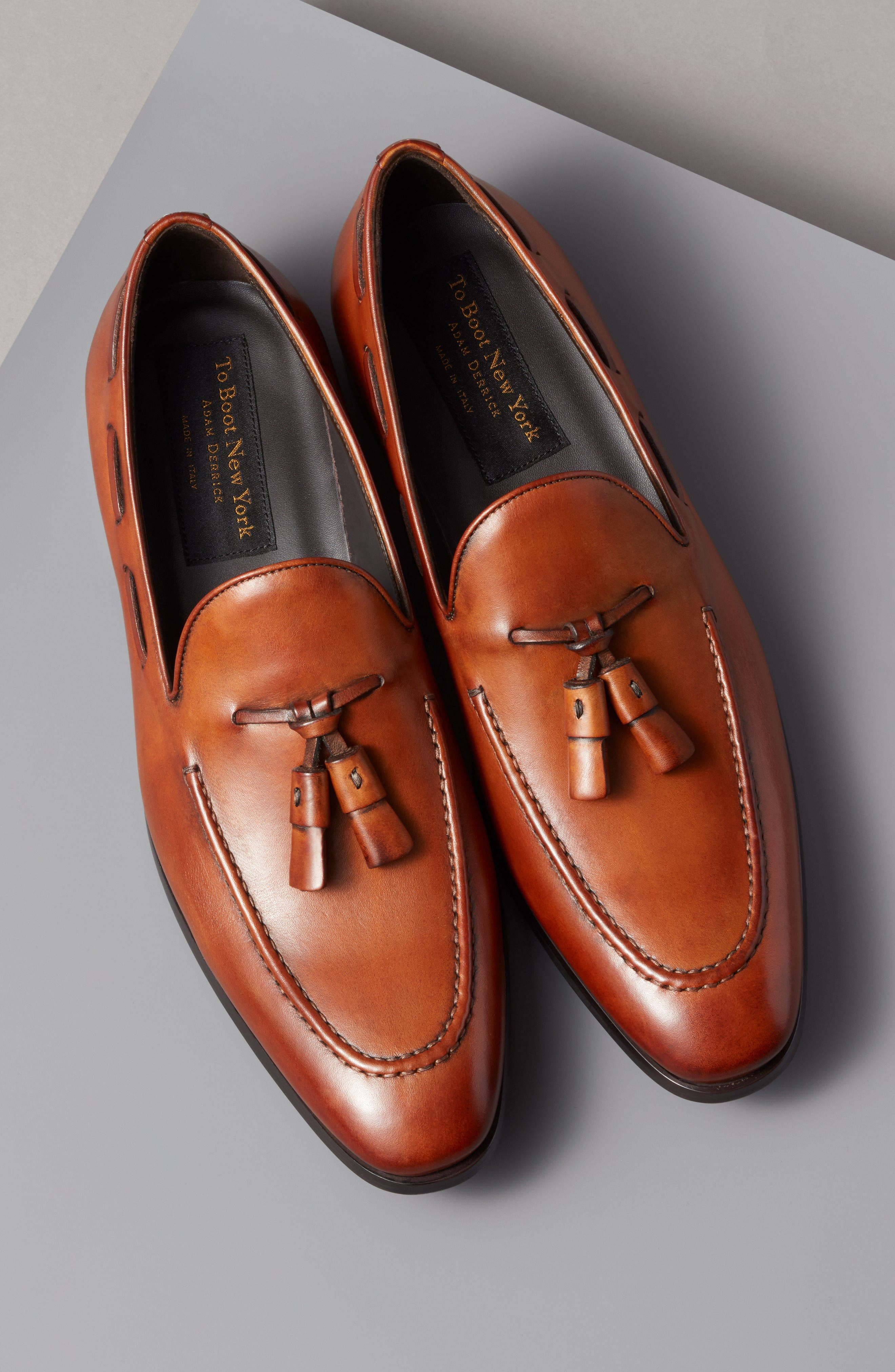 Barclay Tassel Loafer,                             Alternate thumbnail 7, color,                             COGNAC LEATHER