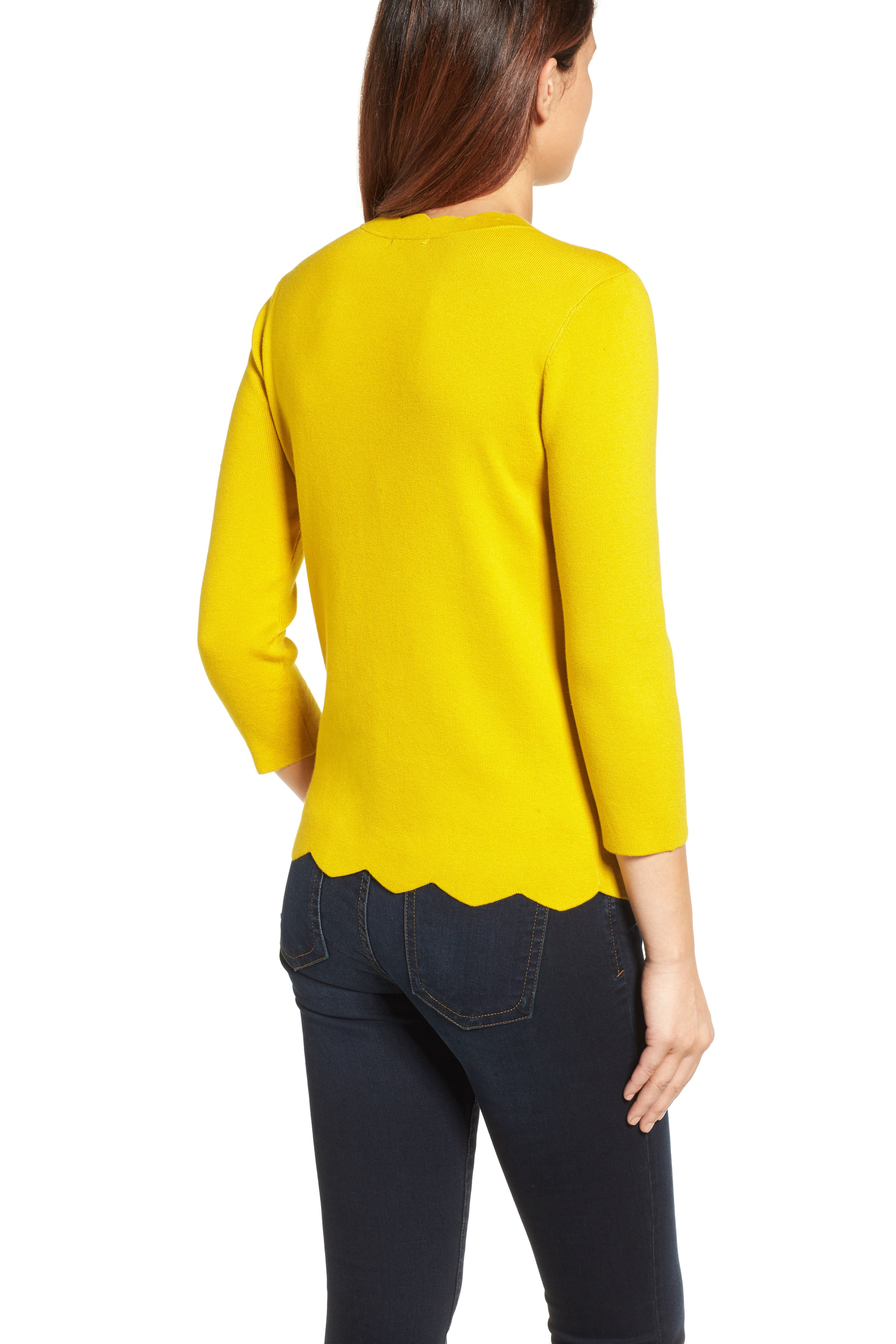 Halogen Scallop Edge Sweater,                             Alternate thumbnail 21, color,