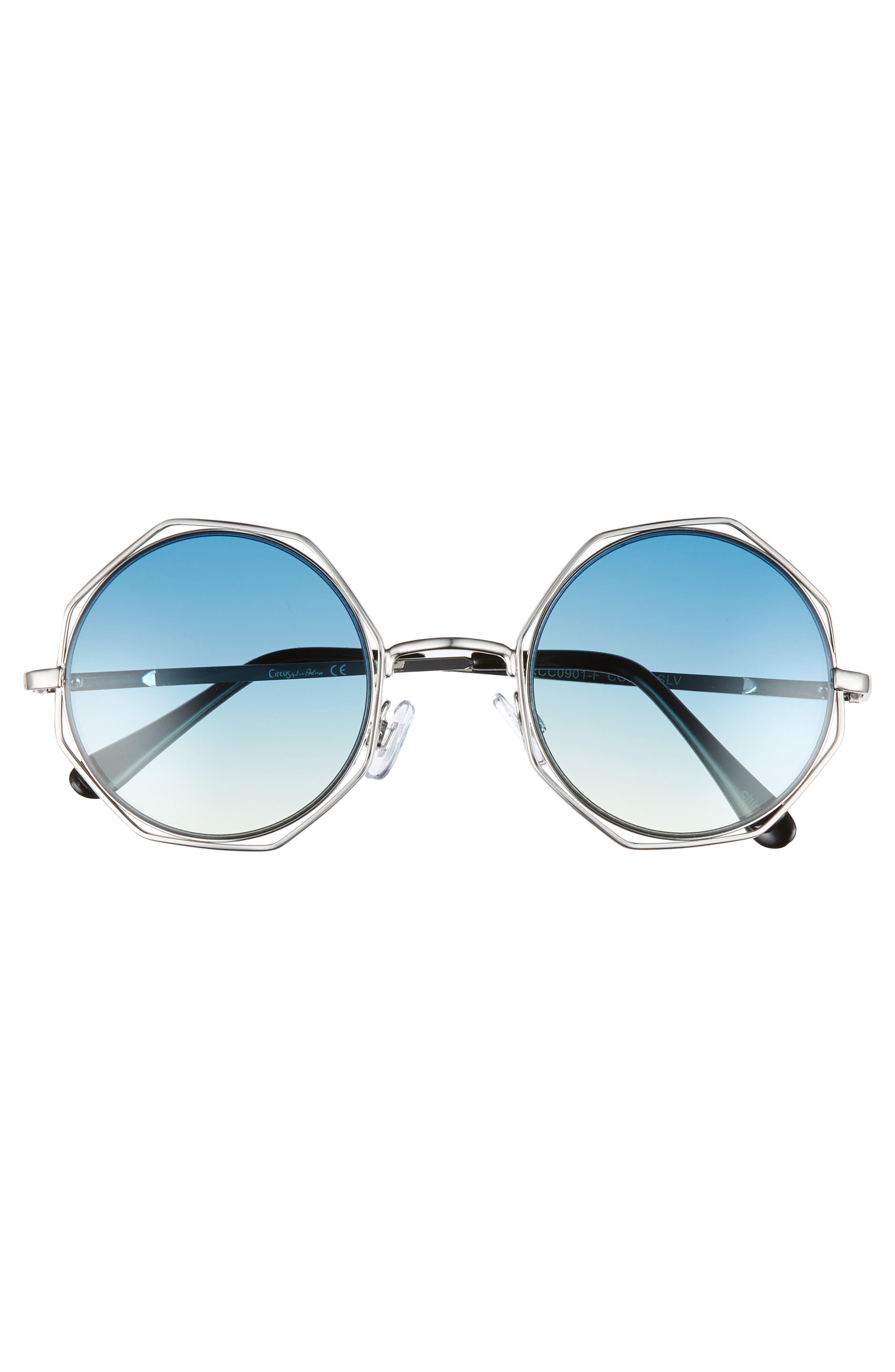 50mm Round Sunglasses,                             Alternate thumbnail 3, color,                             040