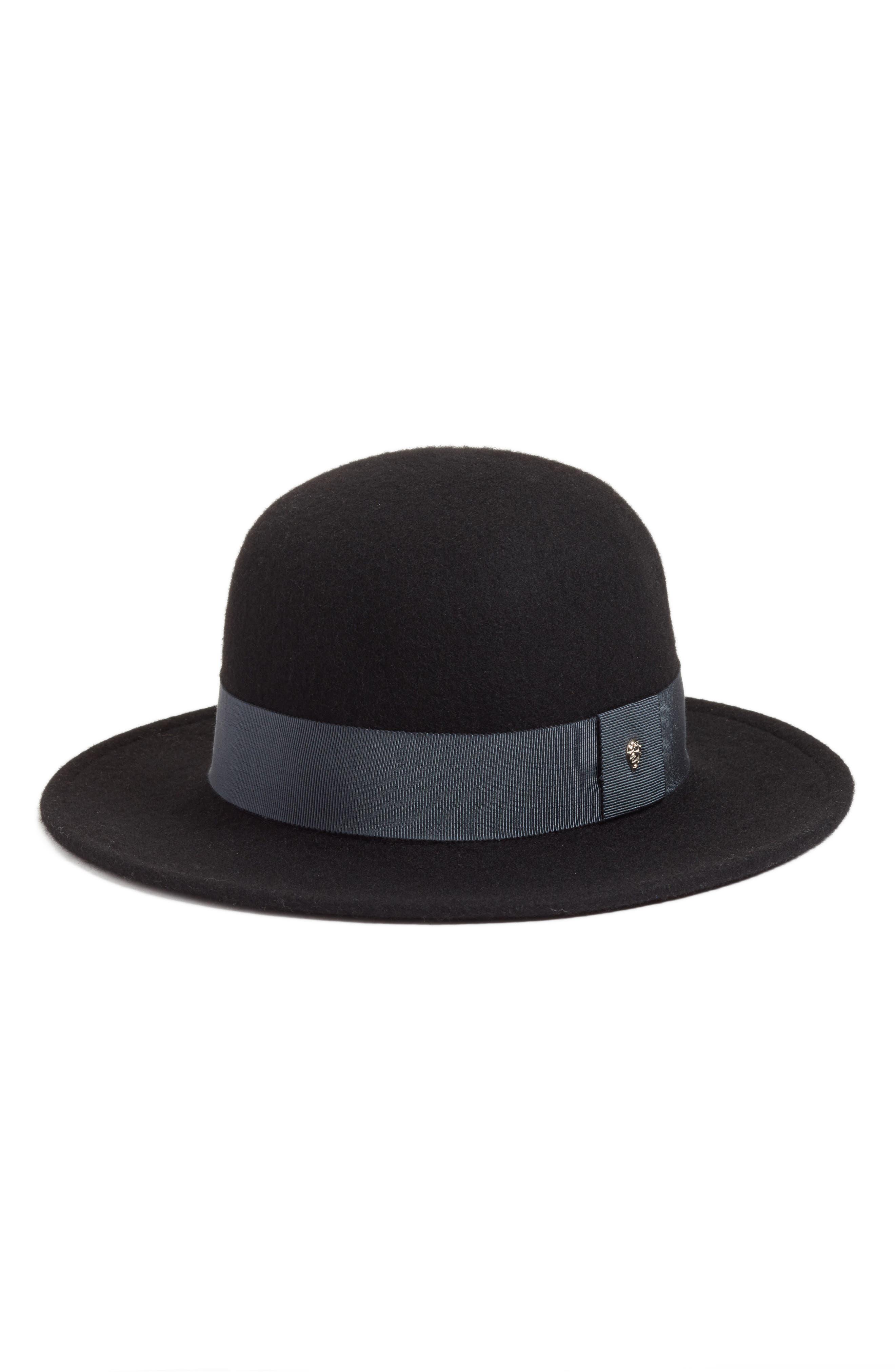 Wool Felt Round Hat,                             Main thumbnail 1, color,                             008