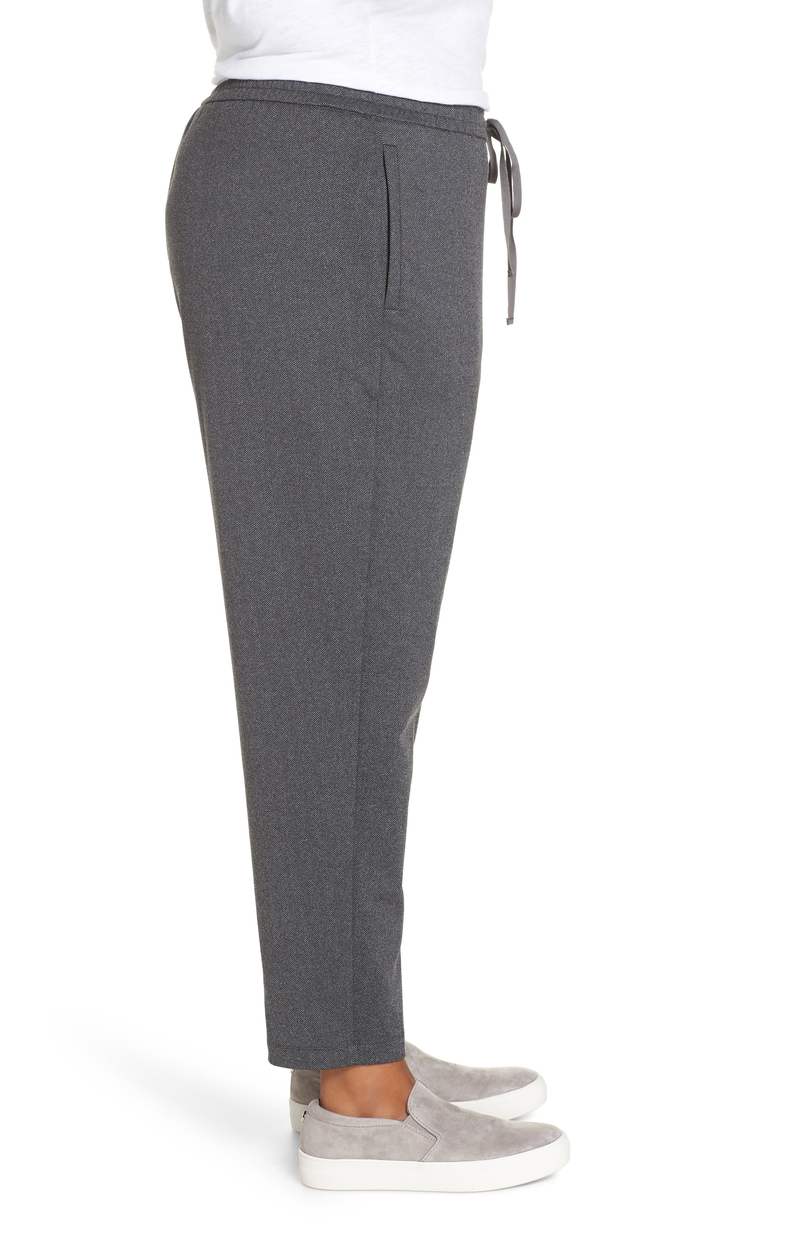 EILEEN FISHER,                             Slouchy Drawstring Pants,                             Alternate thumbnail 3, color,                             021