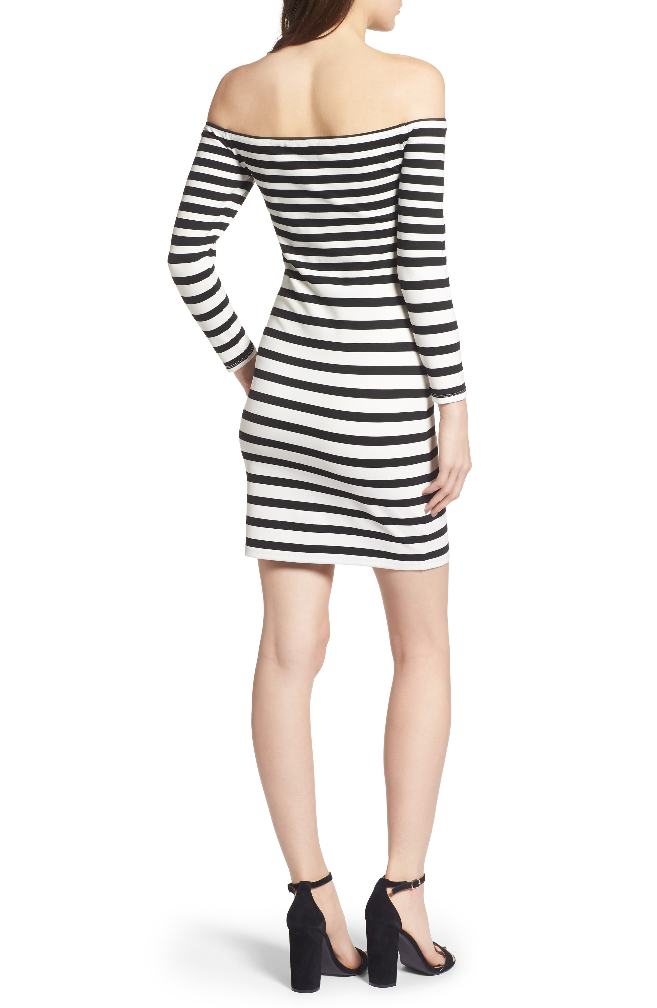 Fira Off the Shoulder Body-Con Dress,                             Alternate thumbnail 2, color,