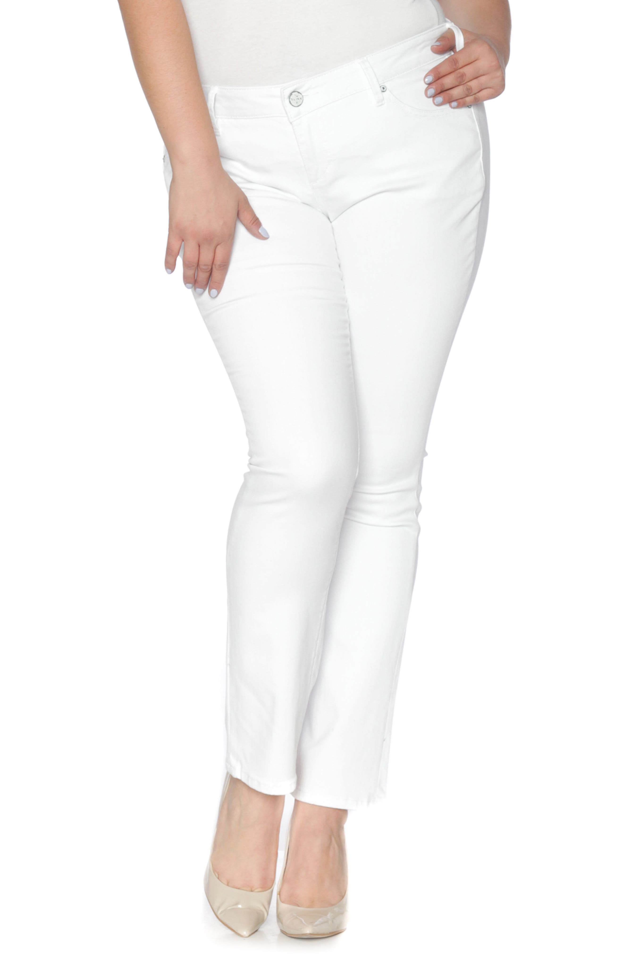 Stretch Straight Leg Jeans,                         Main,                         color, 114
