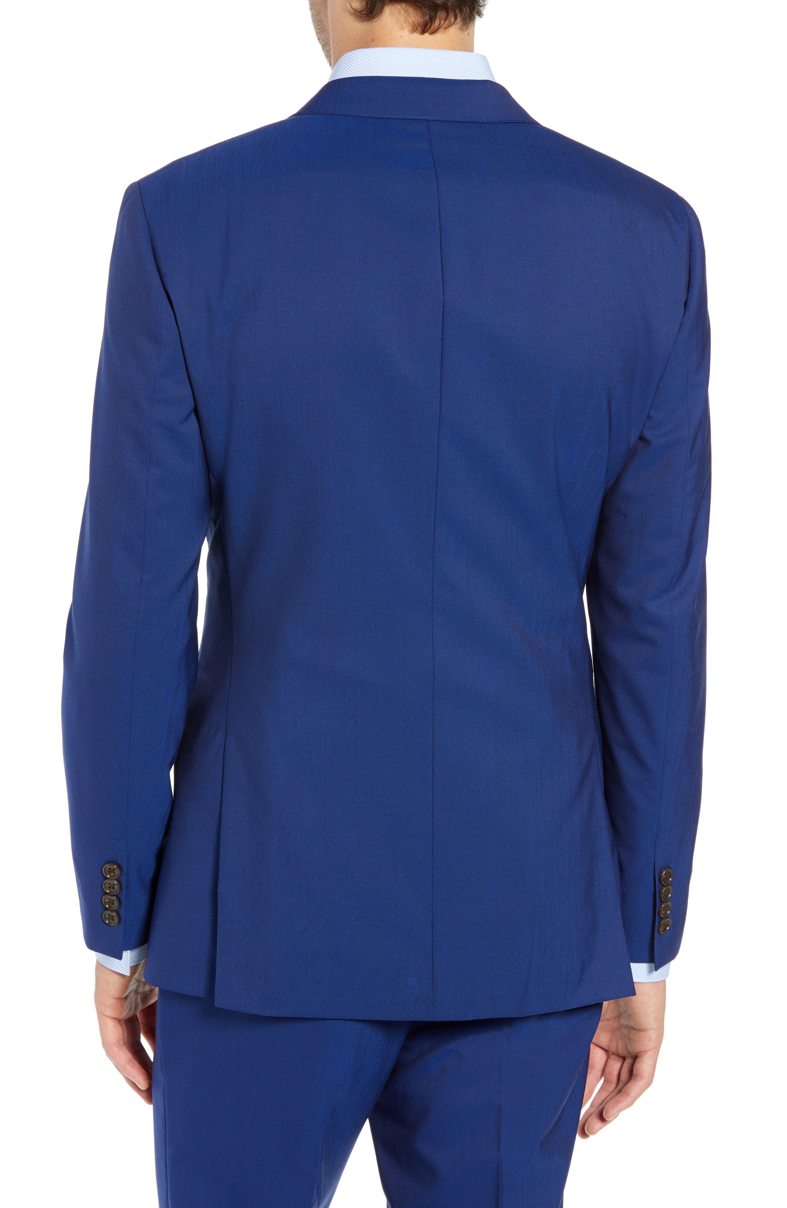 Jetsetter Slim Fit Stretch Wool Blazer,                             Alternate thumbnail 2, color,                             BRILLIANT NAVY