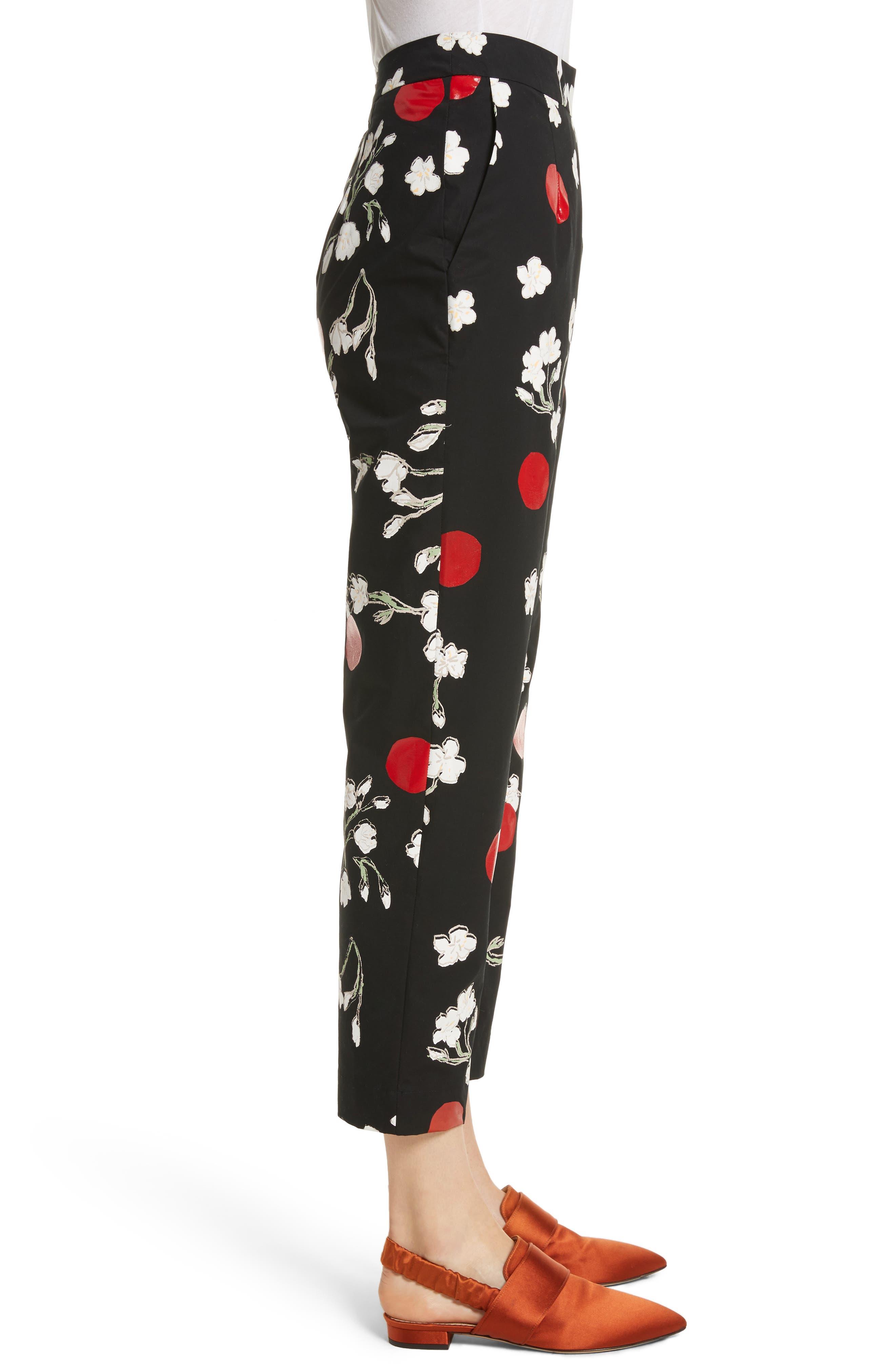 Classic Pantalone Crop Pants,                             Alternate thumbnail 3, color,