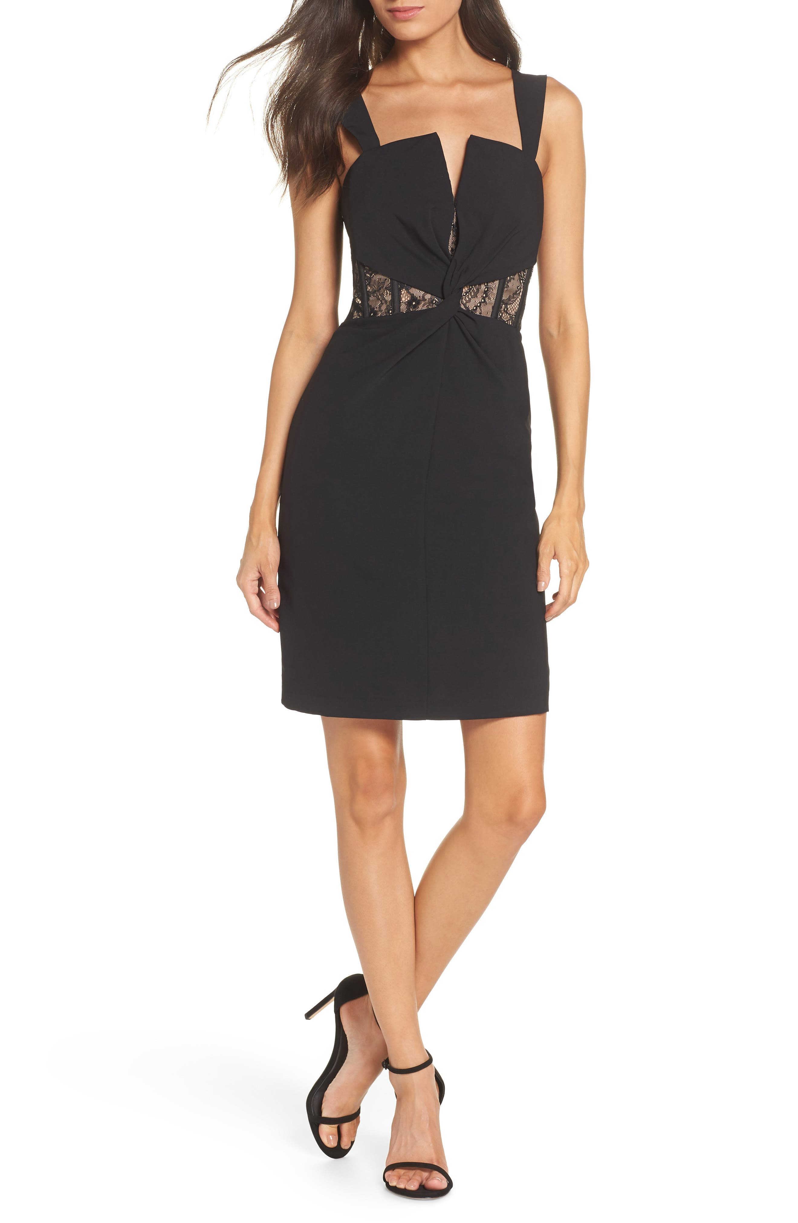 Harlyn Corset Detail & Lace Inset Cocktail Dress