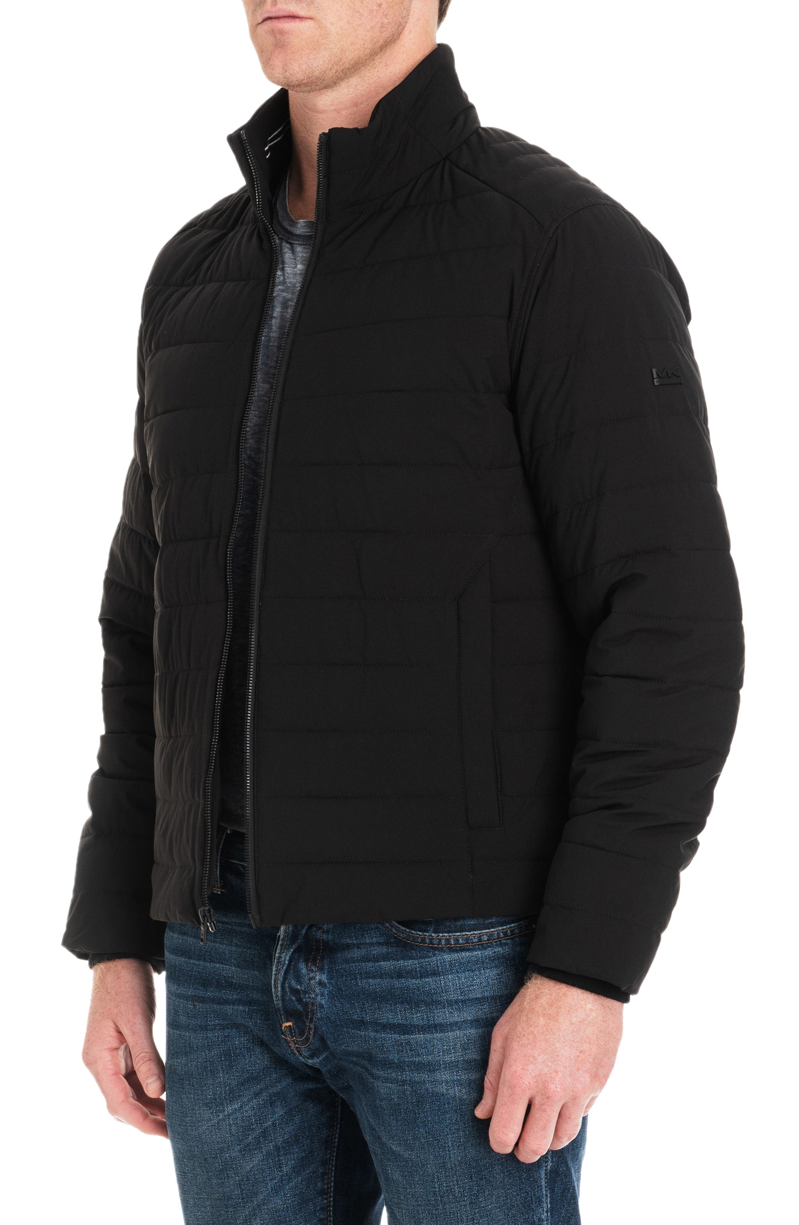 Fulton Quilted Jacket,                             Alternate thumbnail 5, color,                             BLACK/ MIDNIGHT