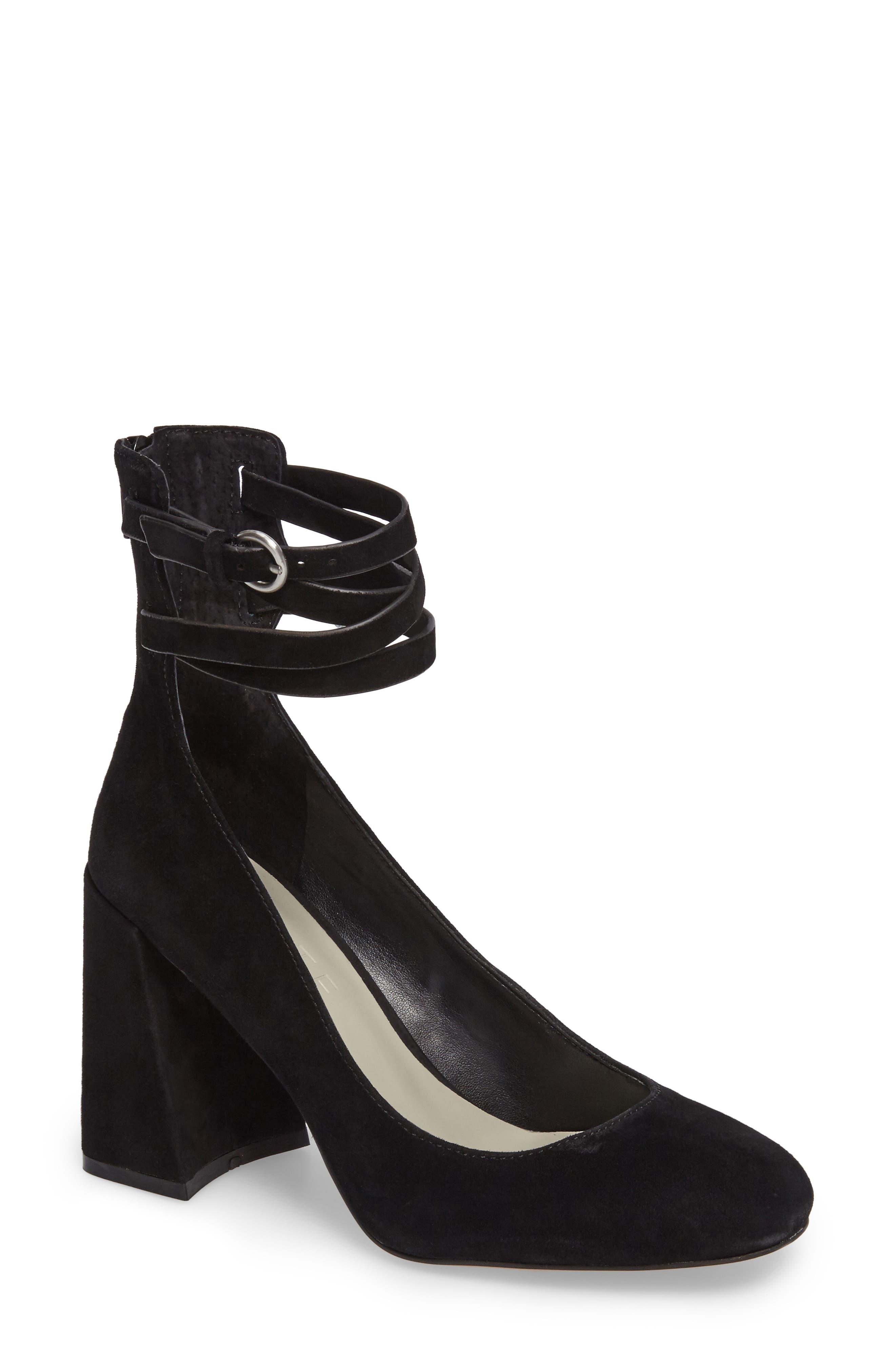 Makal Flared Heel Wraparound Pump,                         Main,                         color, 001