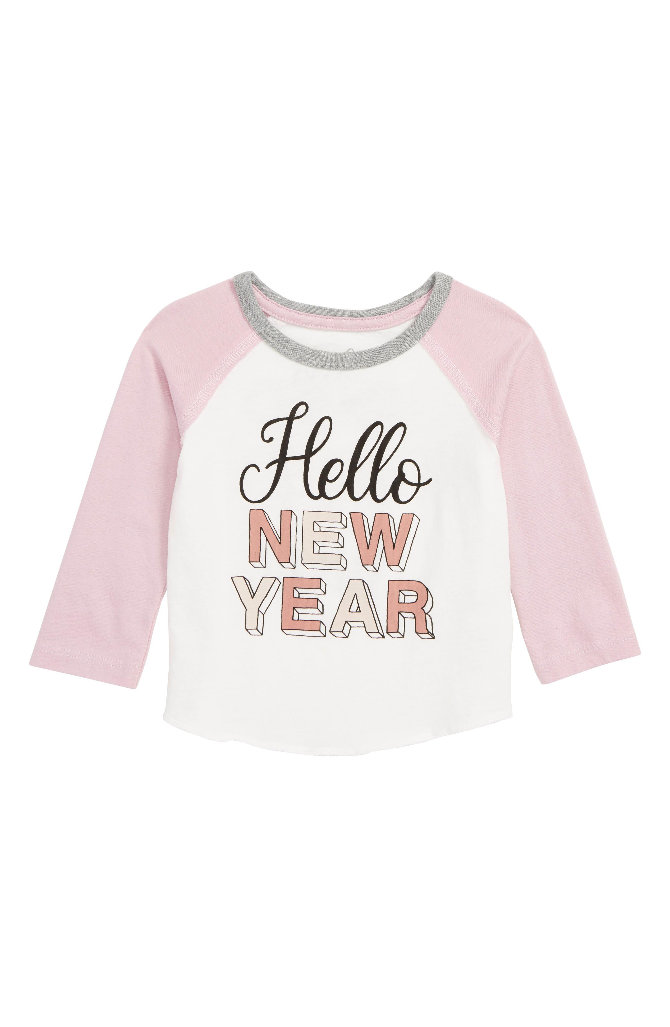 Hello New Year T-Shirt,                             Main thumbnail 1, color,                             IVORY