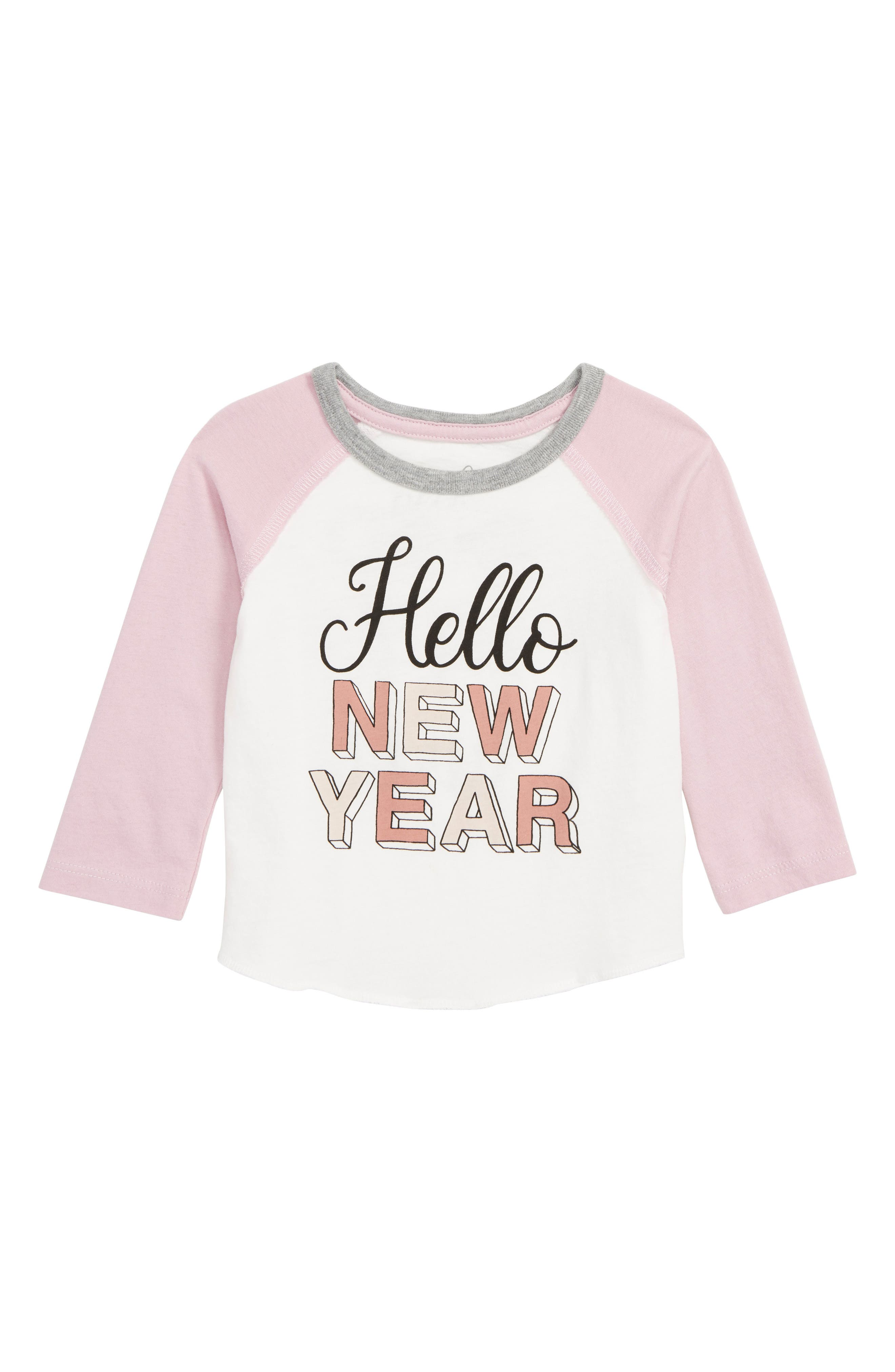 Hello New Year T-Shirt, Main, color, IVORY