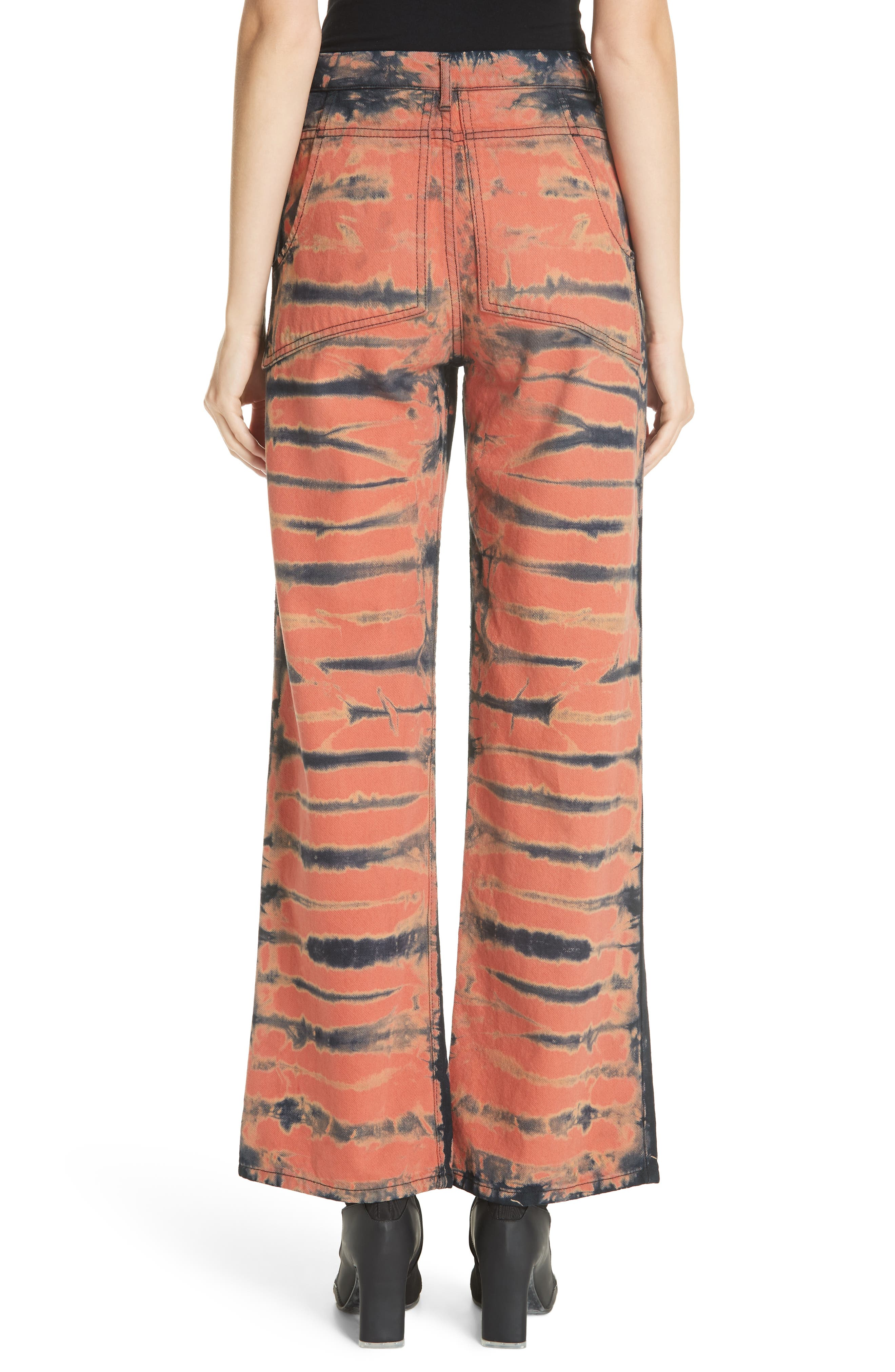 Tie Dye Wide Leg Jeans,                             Alternate thumbnail 2, color,                             SHI-SHIBORI