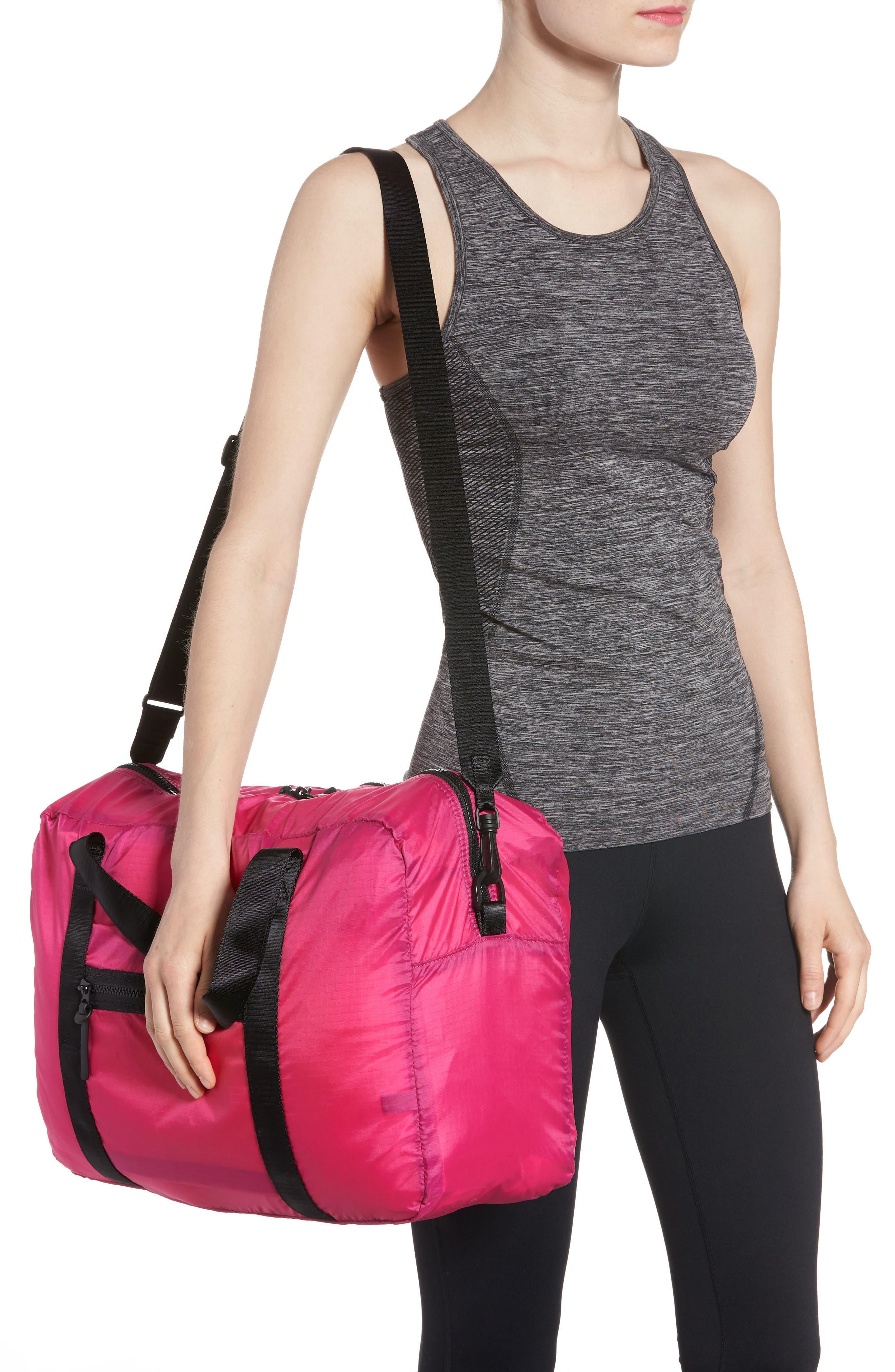 Packable Nylon Duffel Bag,                             Alternate thumbnail 6, color,