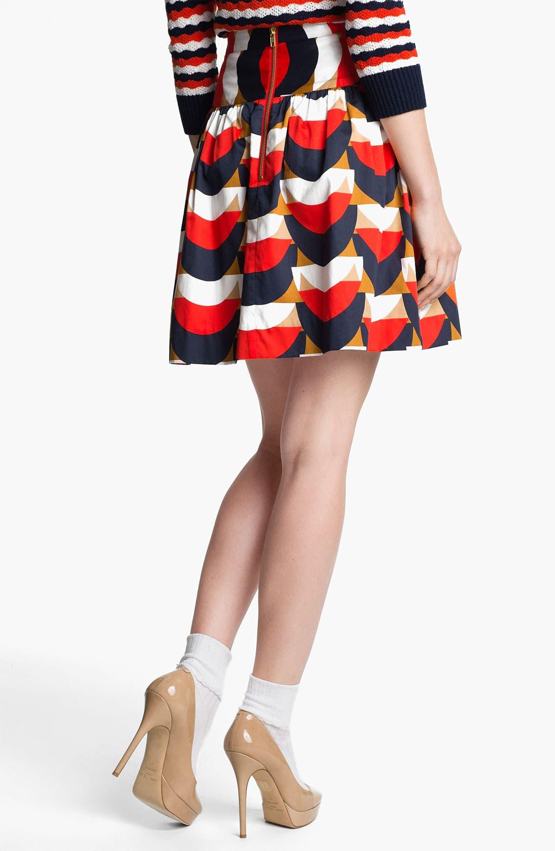 Print Skirt,                             Alternate thumbnail 3, color,